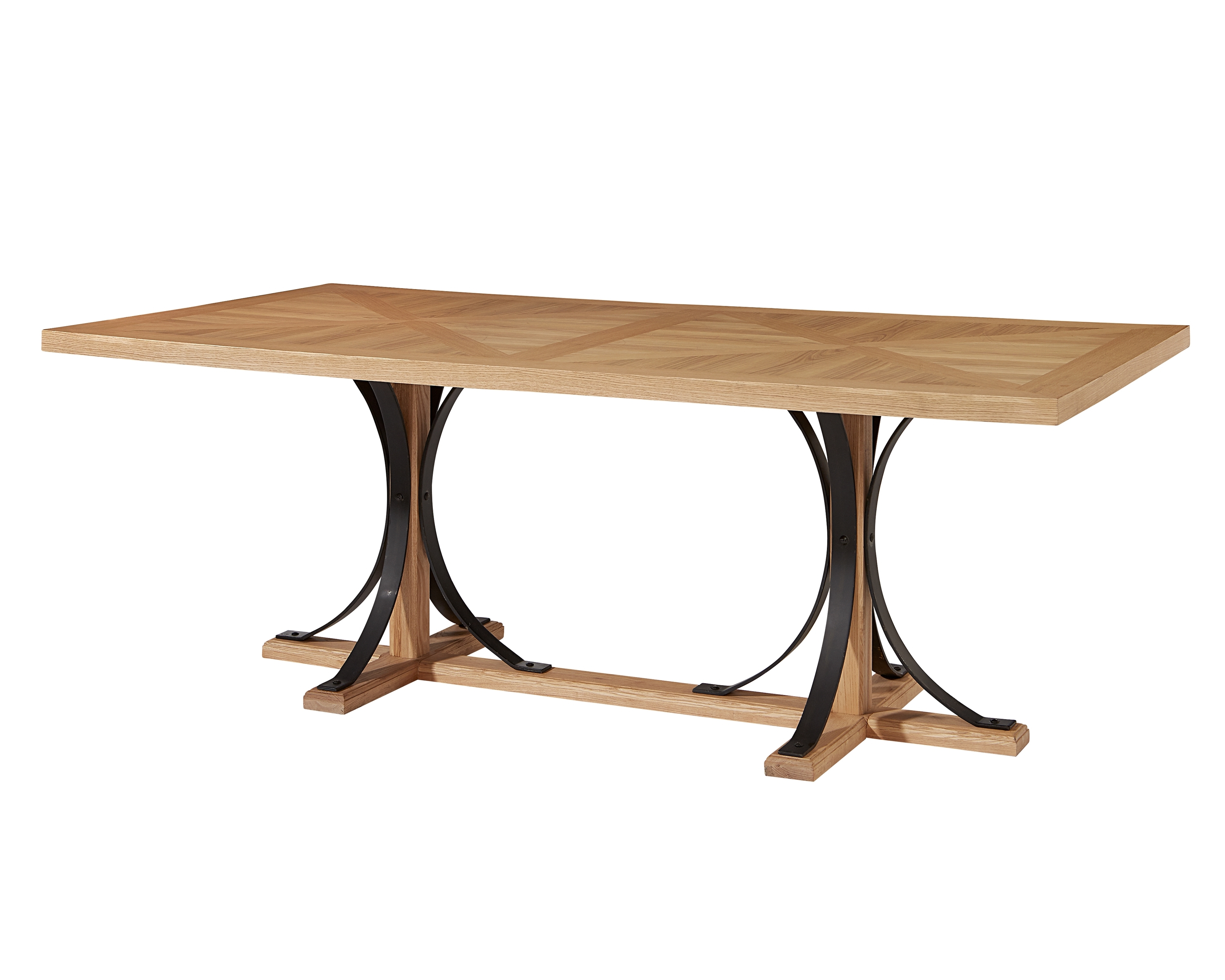 Iron Trestle Dining Table – Magnolia Home With Recent Magnolia Home Iron Trestle Cocktail Tables (View 18 of 20)