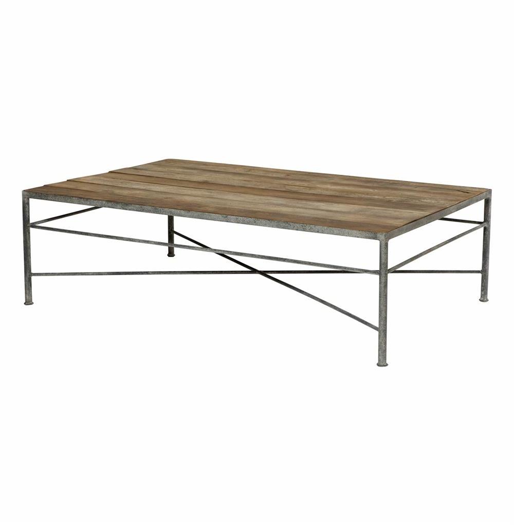 Isabelle Reclaimed Wood Metal Modern Rustic Coffee Table (View 3 of 20)