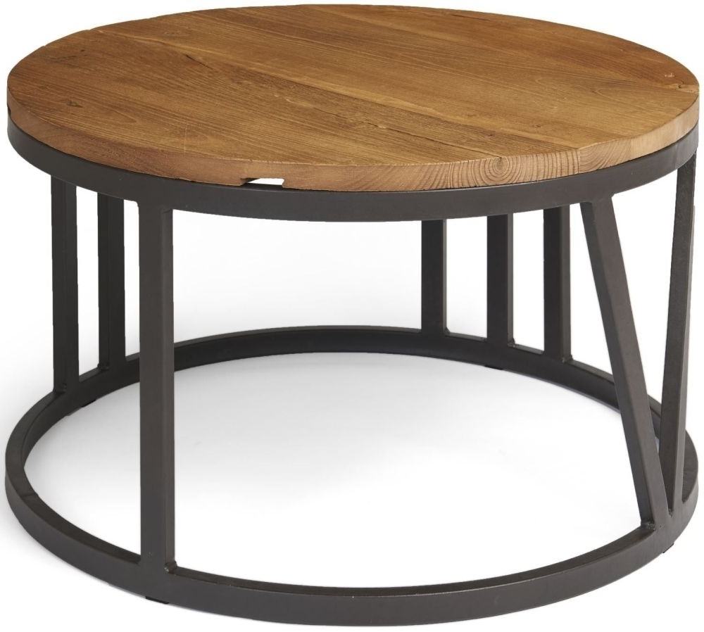 Ives Rustic Reclaimed Elm Iron Frame Large Coffee Table Pertaining To Latest Reclaimed Elm Iron Coffee Tables (View 5 of 20)
