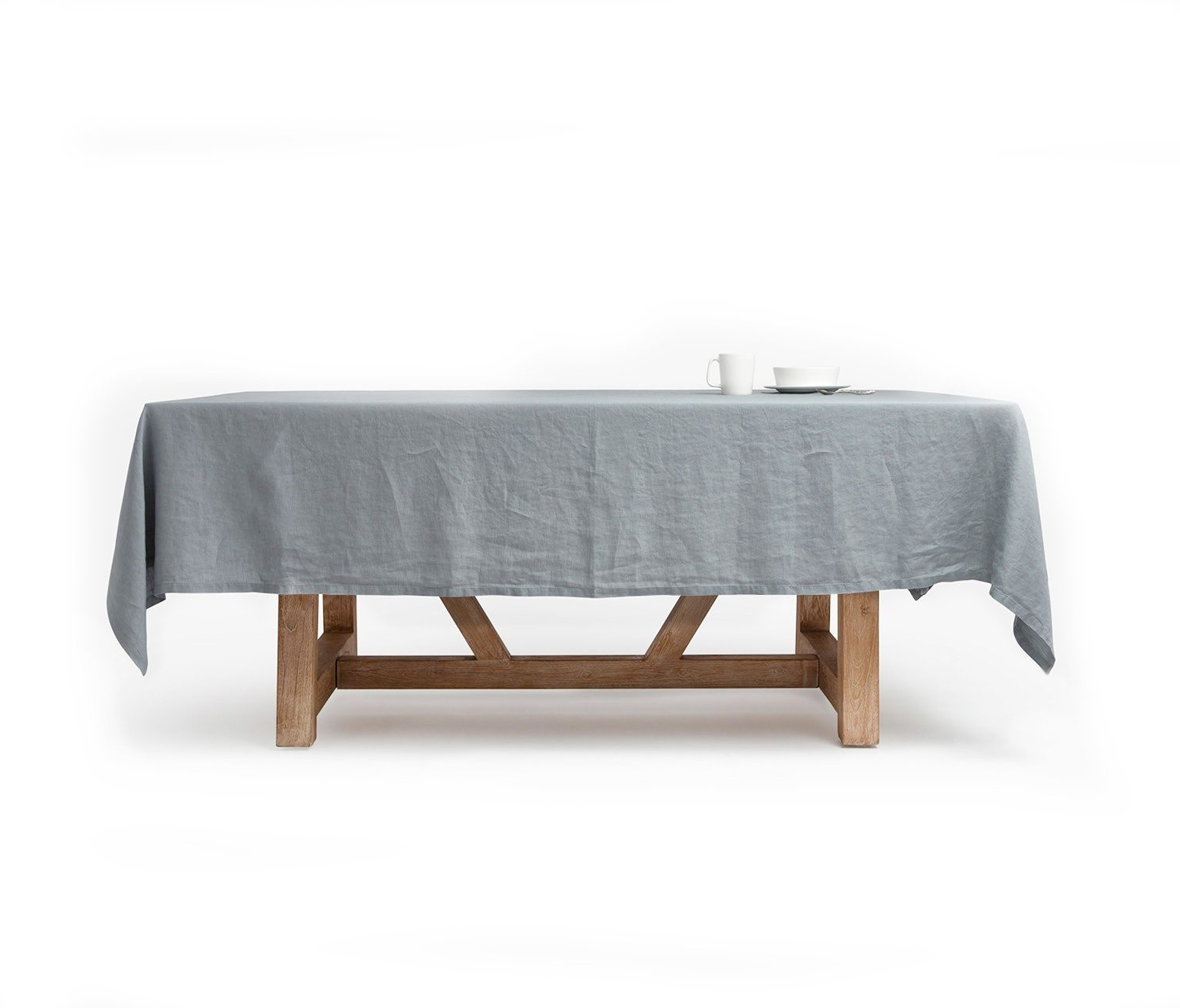 """Johanna, 70""""x100"""" Table Cloth W Solid Hem, Stratus Gray – Harbour In Widely Used Stratus Cocktail Tables (Gallery 13 of 20)"""