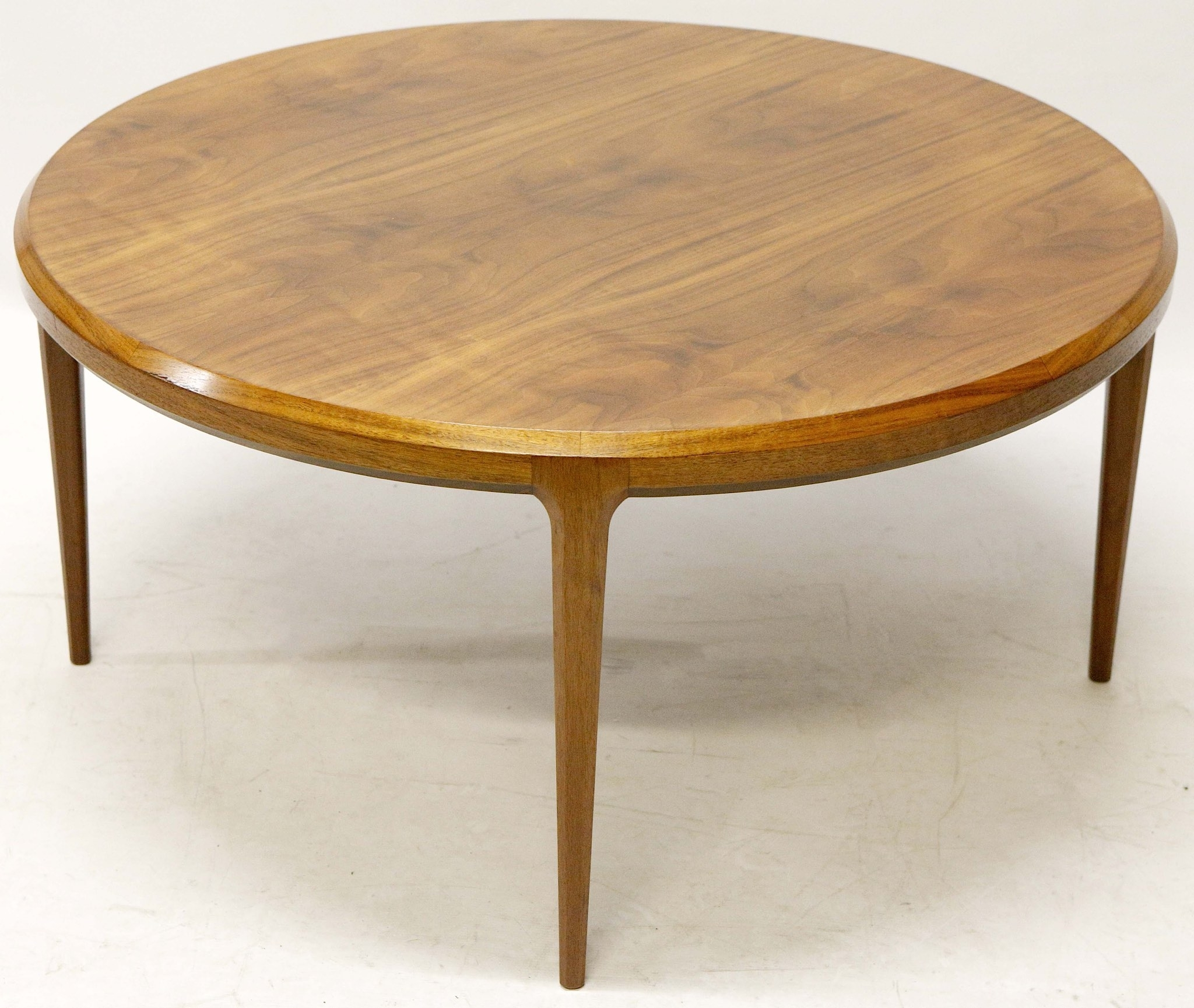 Johannes Andersen For Silkeborg Denmark, C. 1960, A Circular Teak For Most Popular Round Teak Coffee Tables (Gallery 11 of 20)