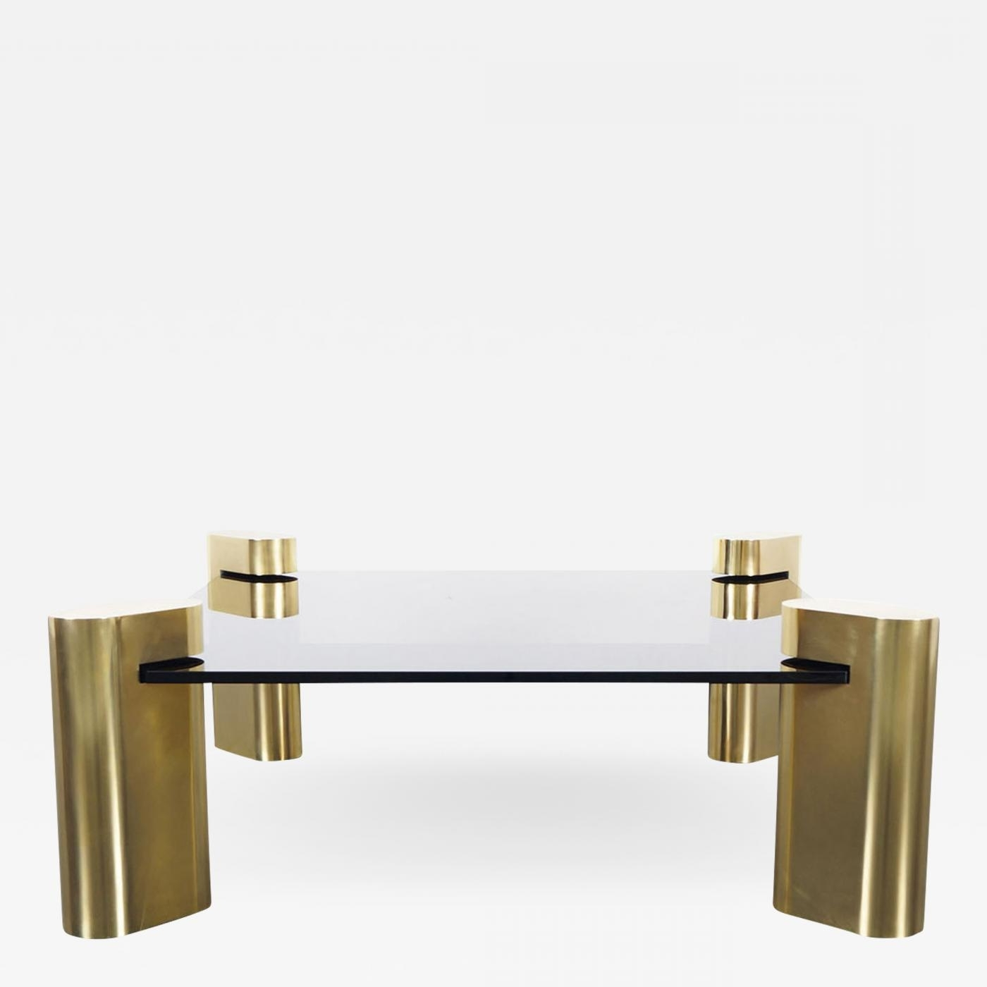 Karl Springer – Exceptional Vintage Brass Coffee Tablekarl Springer Inside Fashionable Antique Brass Coffee Tables (View 11 of 20)