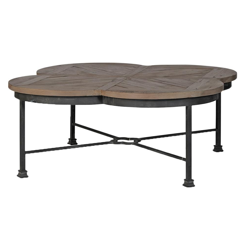 Kathy Kuo Throughout 2018 Reclaimed Pine & Iron Coffee Tables (Gallery 12 of 20)