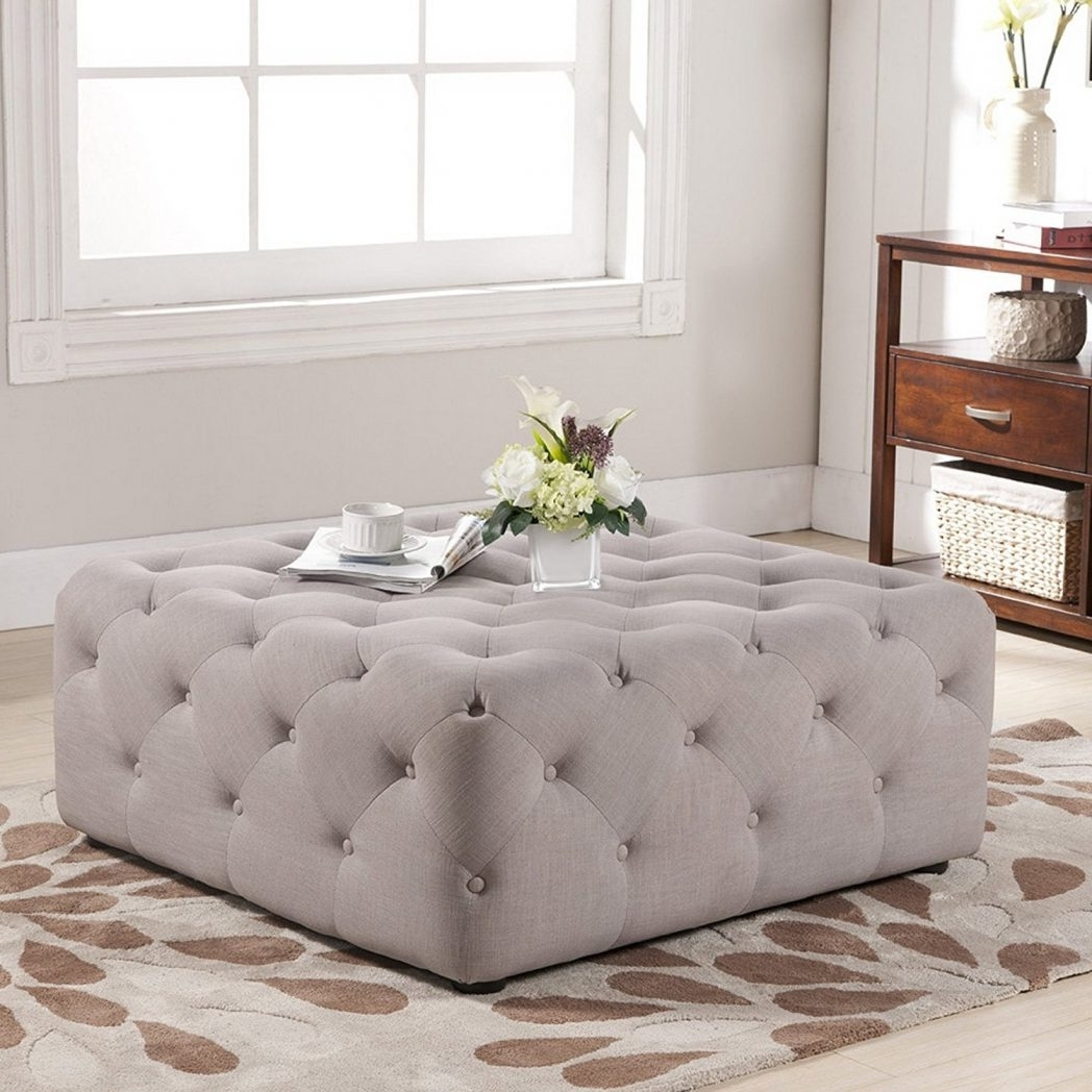 Latest Button Tufted Coffee Tables Regarding Coffee Table Magnificent Ottoman Cocktail Table Storage Ottoman (View 9 of 20)