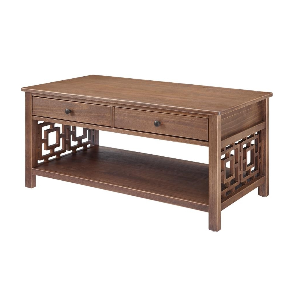 Latest Haven Coffee Tables With Linon Home Decor Haven Rustic Brown Coffee Table Thd01869 – The Home (View 16 of 20)