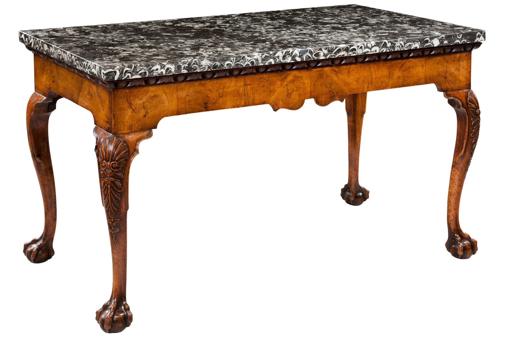 Latest Large Slab Marble Coffee Tables With Antiqued Silver Base Intended For Antique Marble Top Tables (View 18 of 20)