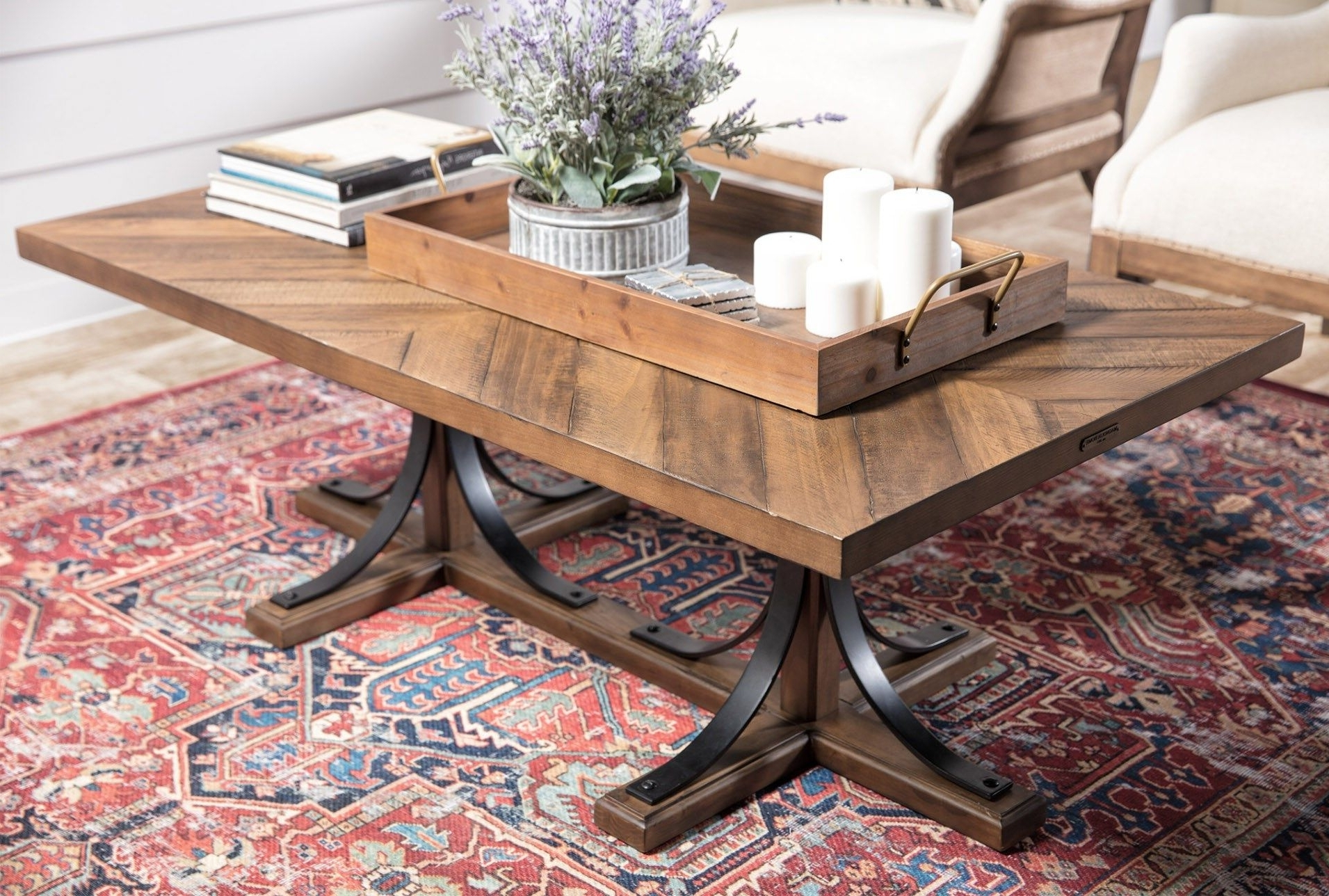 Latest Magnolia Home Iron Trestle Cocktail Tables Throughout Magnolia Home Iron Trestle Cocktail Tablejoanna Gaines (View 11 of 20)