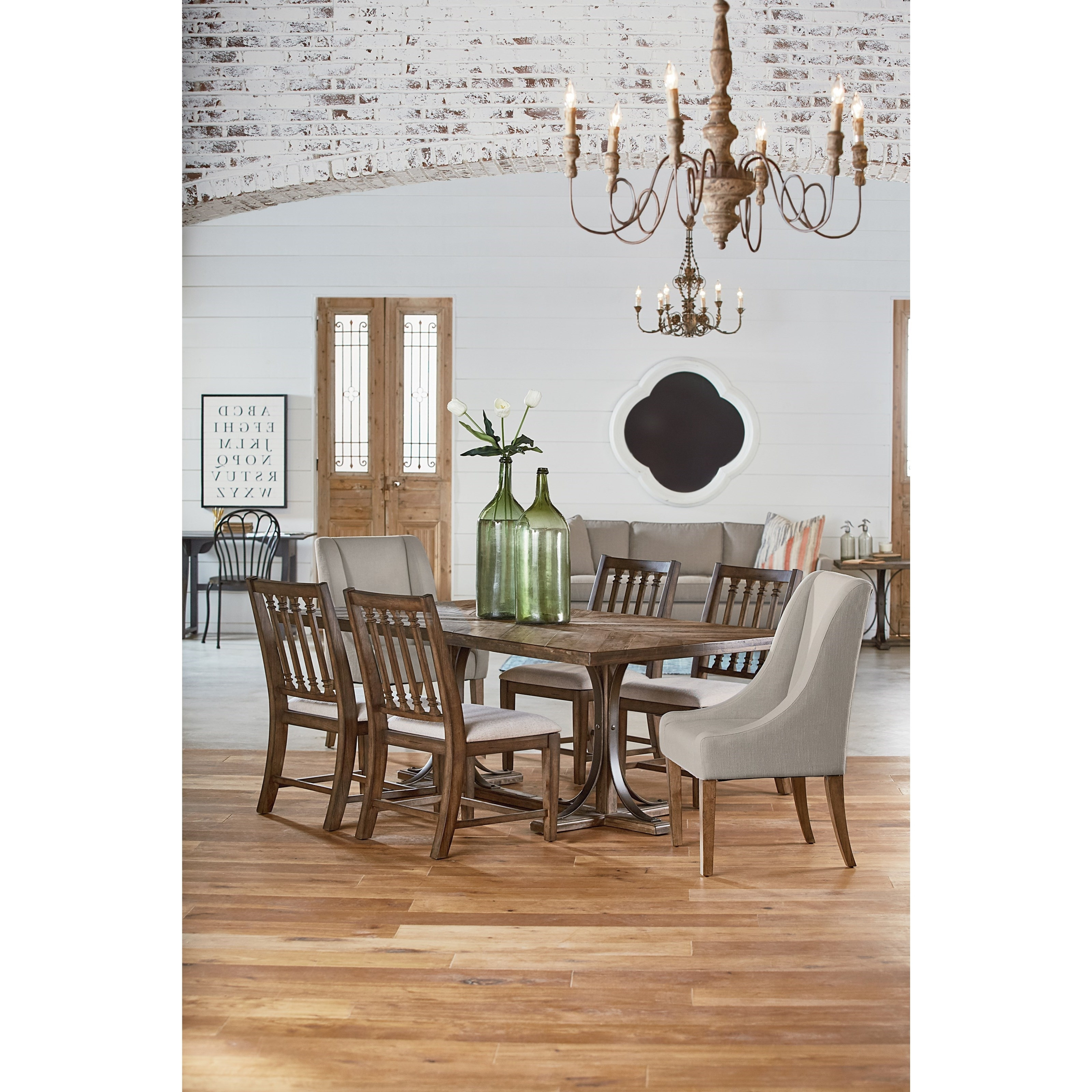 Latest Magnolia Home Iron Trestle Cocktail Tables With Regard To 6 Pc (View 16 of 20)