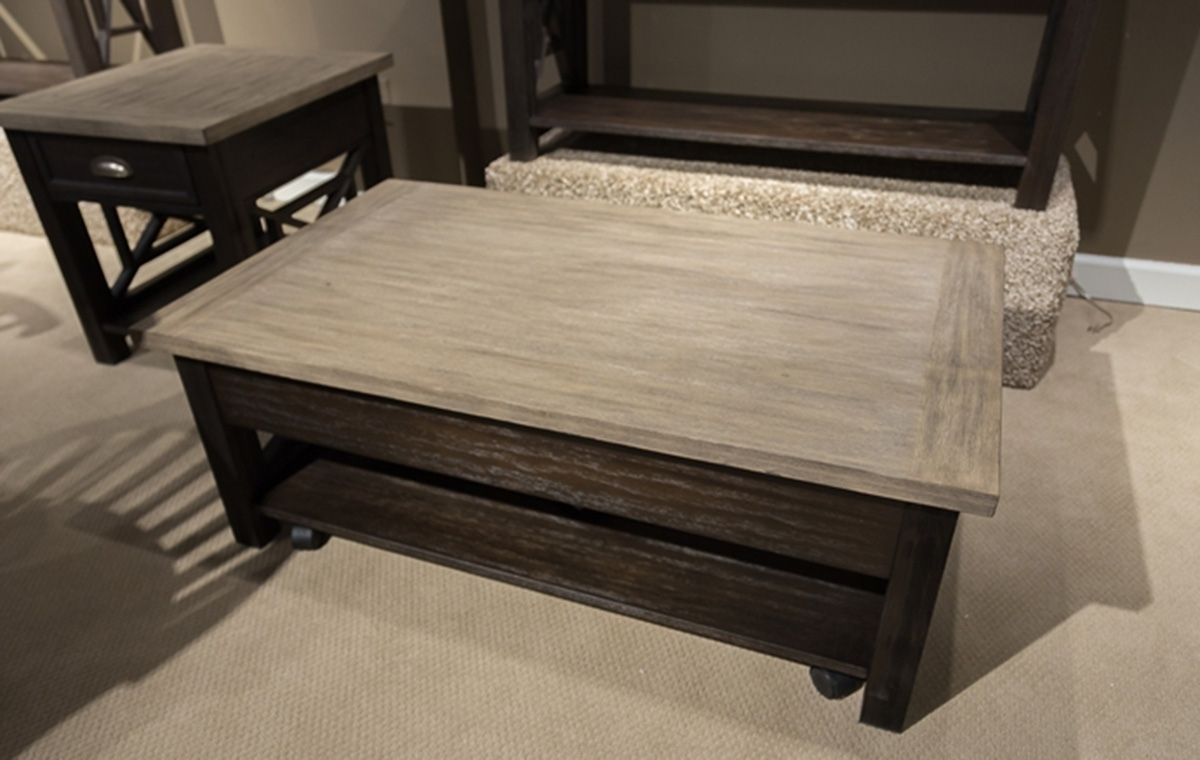 Latest Market Lift Top Cocktail Tables Throughout Liberty Furniture Heatherbrook Lift Top Cocktail Table (View 8 of 20)