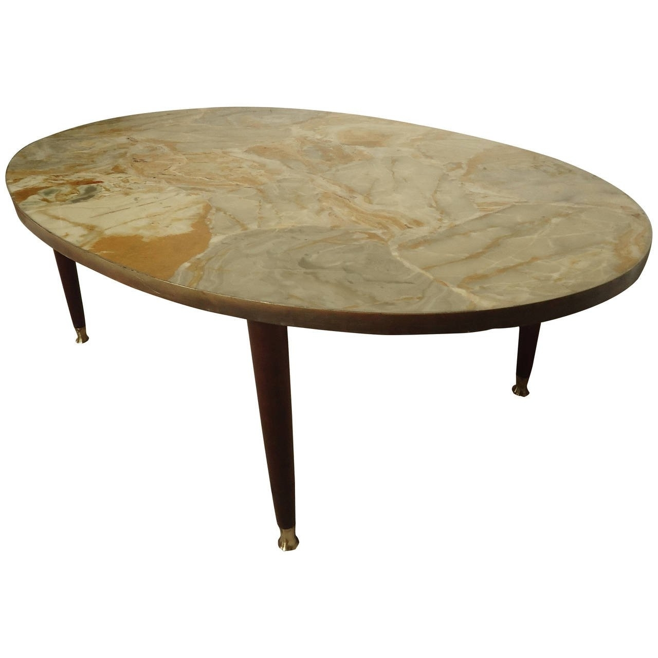 Latest Mid Century Modern Marble Coffee Tables Regarding Mid Century Modern Italian Marble Top Coffee Table For Sale At 1stdibs (View 16 of 20)