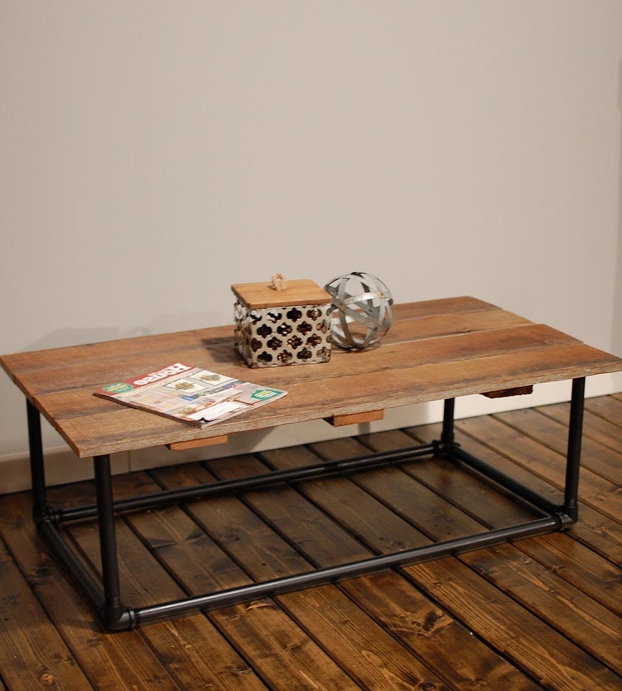 Latest Pine Metal Tube Coffee Tables In The Super Fun End Table With Pipe Legs Images : Jockboymusic (View 9 of 20)