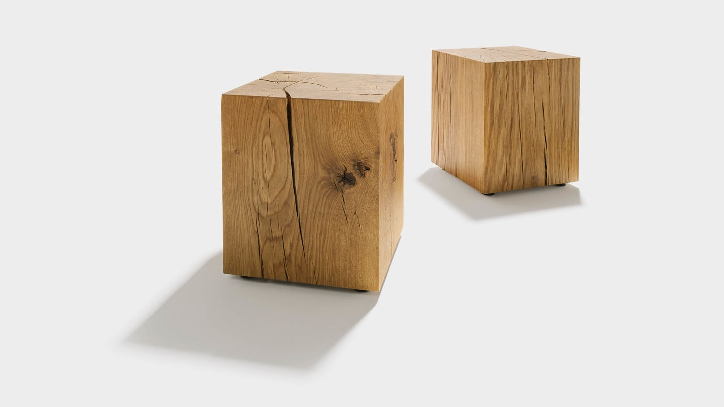 Latest Smoked Oak Side Tables Pertaining To Oak Block (View 6 of 20)