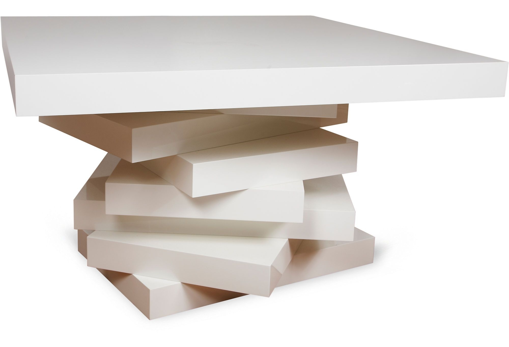 Latest Stack Hi Gloss Wood Coffee Tables Regarding Stacked Entry Table 5999.00/ (View 9 of 20)