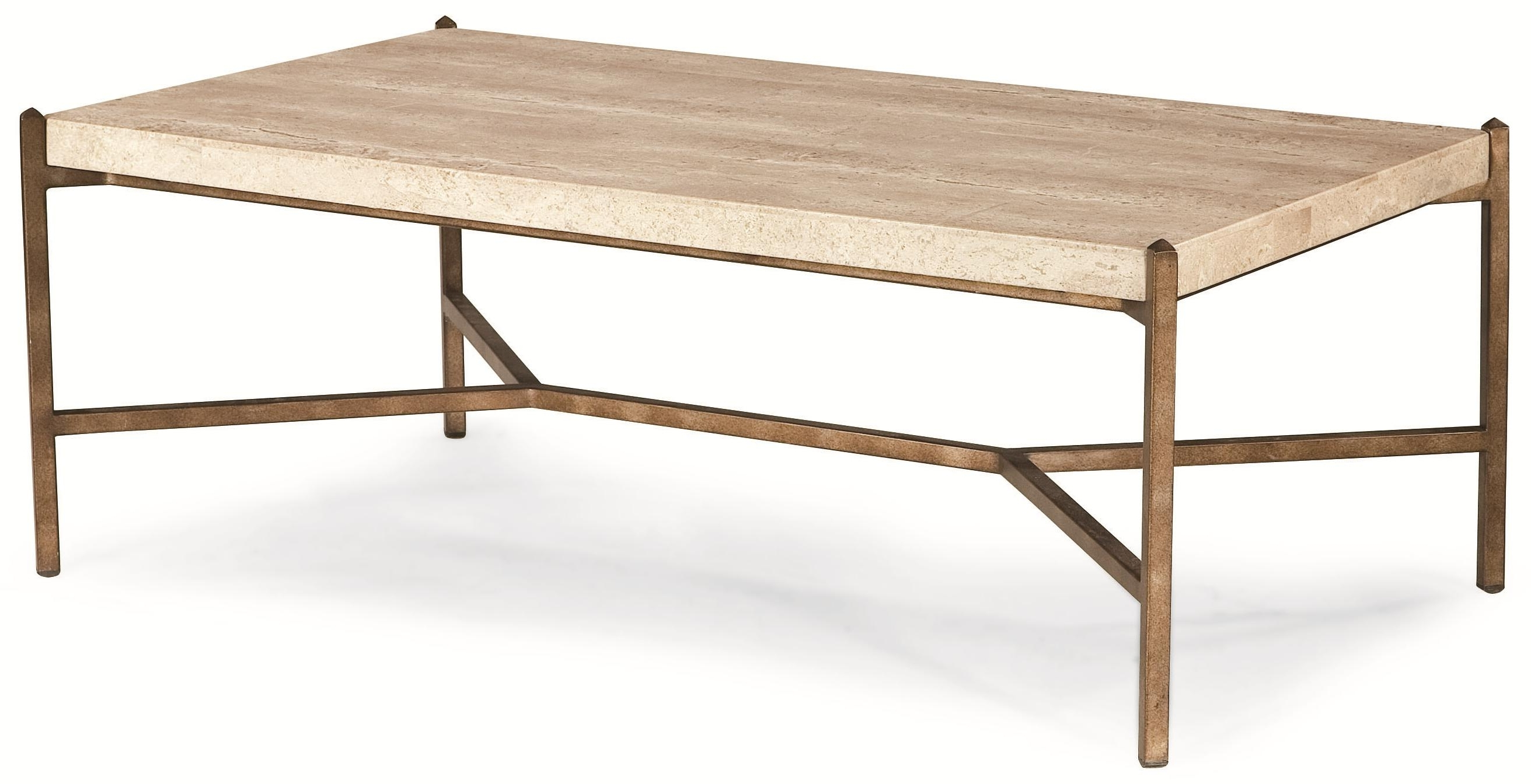 Latest Stone Top Coffee Tables Throughout Thomasville® Cachet 82191 121 Rectangular Coffee Table W/ Travertine (View 2 of 20)