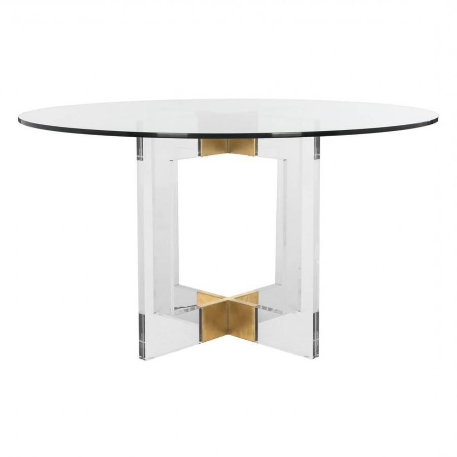 Latest Torrin Round Cocktail Tables Within Decor Market – Safavieh Couture Xevera Roung Arcylic Dining Table (View 10 of 20)