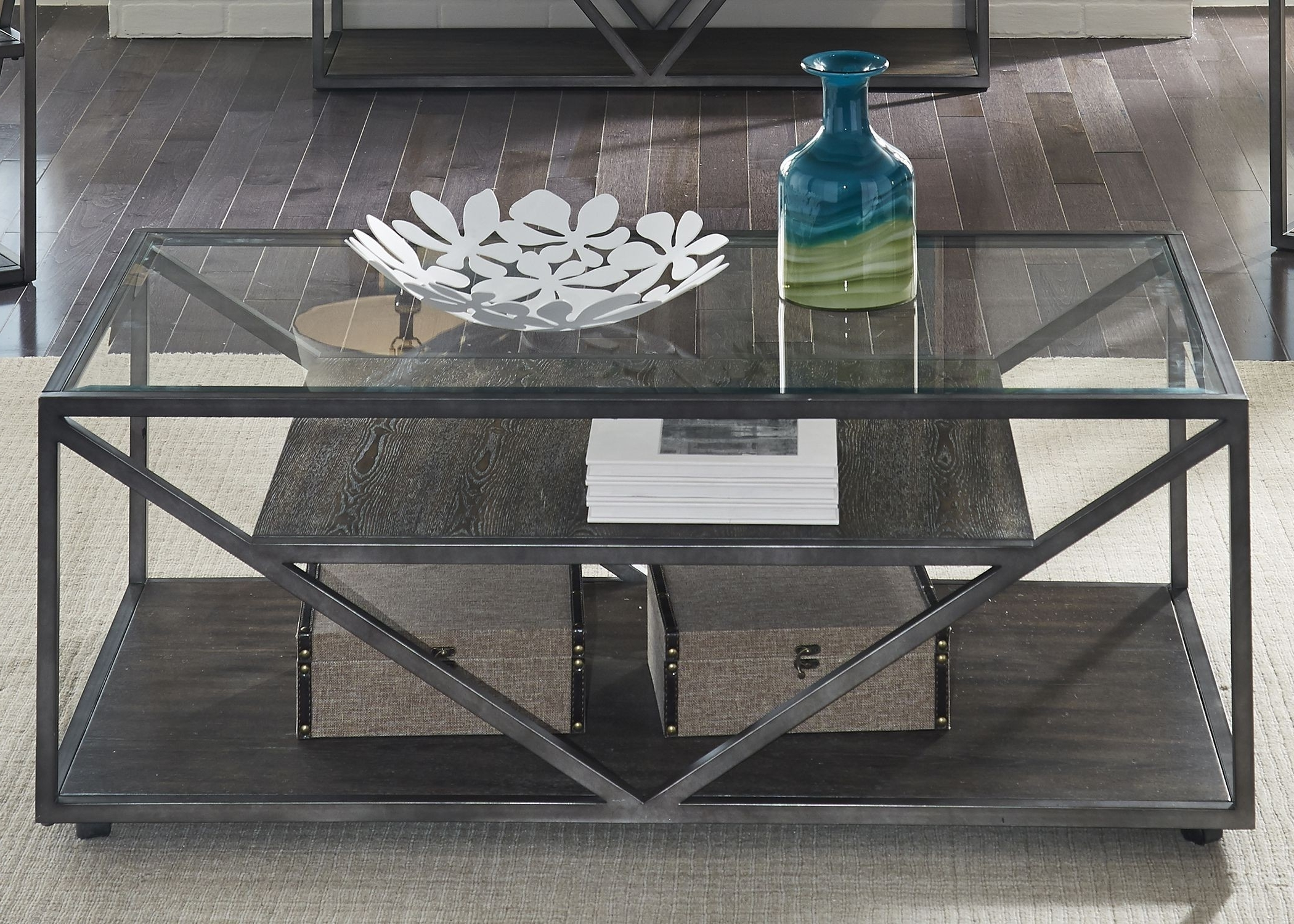 Liberty Arista Cobblestone Brown Rectangular Cocktail Table – Arista With Most Popular Alton Cocktail Tables (View 12 of 20)