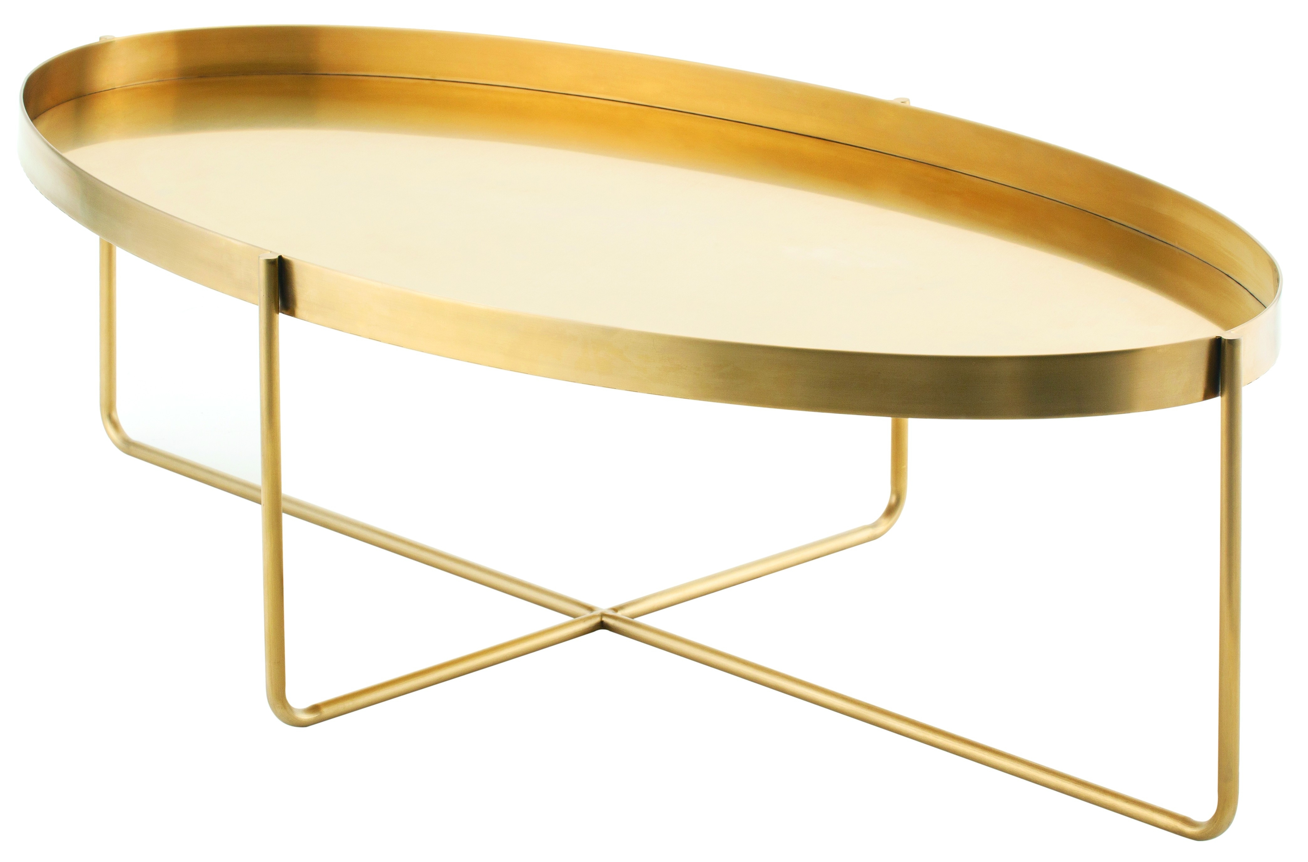 Lily Coffee Table, Gold For Most Recently Released Cacti Brass Coffee Tables (View 11 of 20)