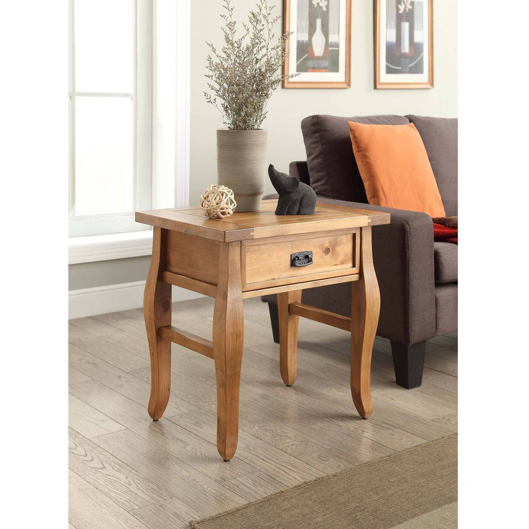 Linon Santa Fe End Table, Antique Finish, 24 Inches Tall – Walmart For Most Recently Released Santa Fe Coffee Tables (View 3 of 20)