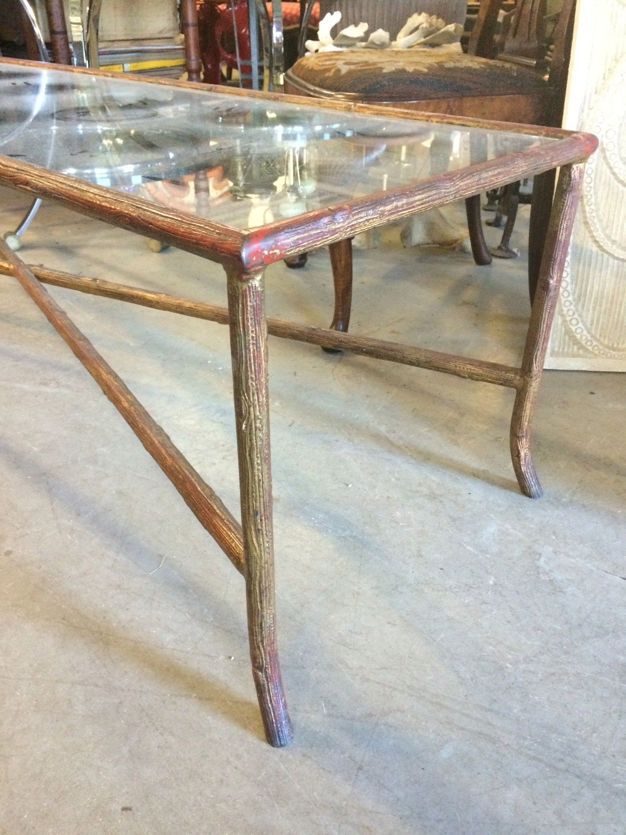 Long Narrow Bagues Style Faux Bois Coffee Table At 1stdibs With Regard To Most Recent Faux Bois Coffee Tables (View 3 of 20)