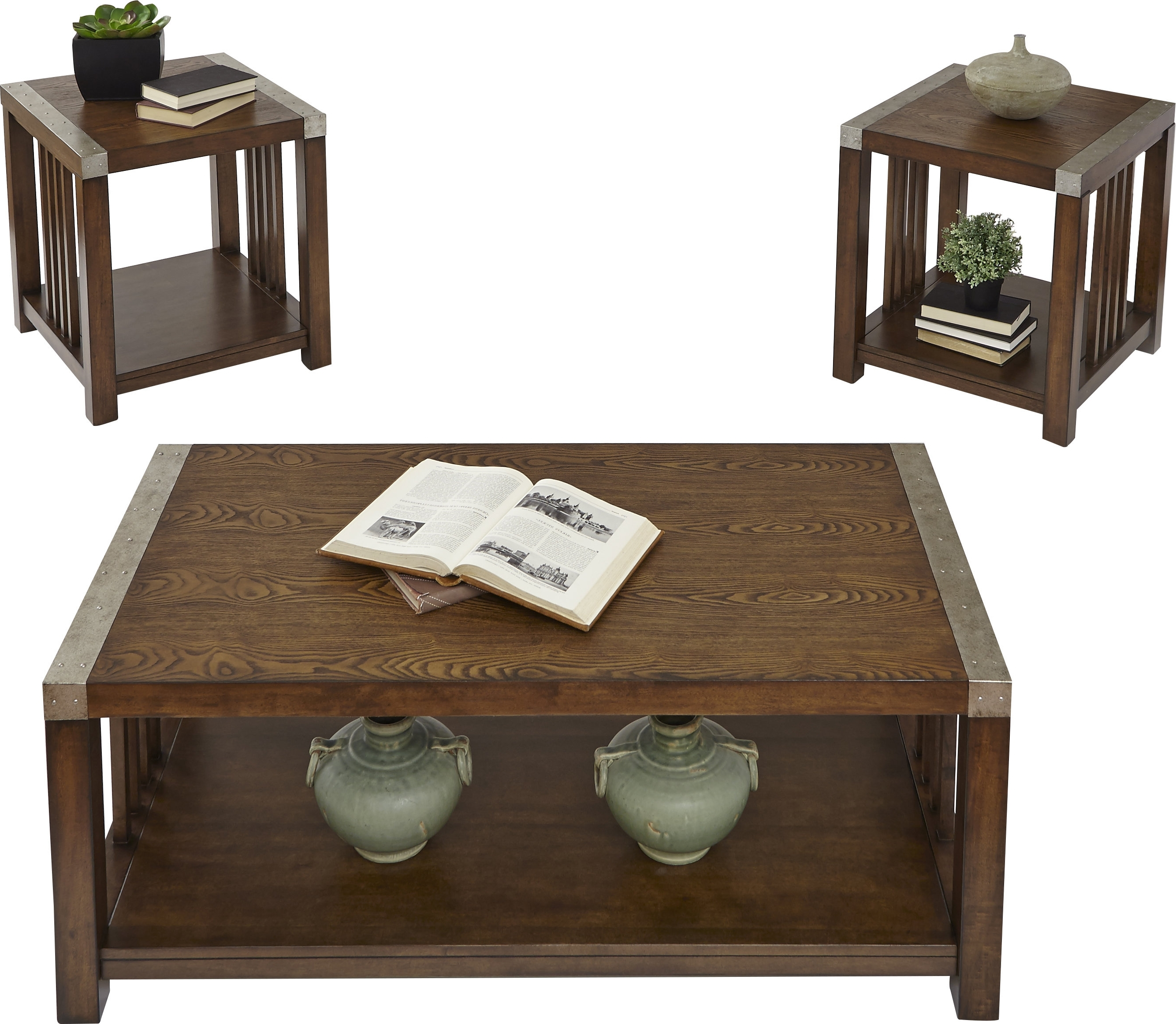 Loon Peak Creede 3 Piece Coffee Table Set & Reviews (View 14 of 20)