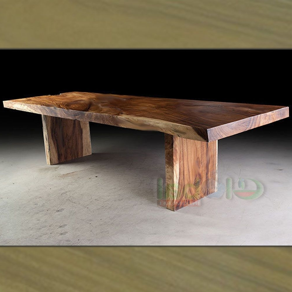 Lovely Exotic Wood Dining Tables Slab Table Legs Pictures Gallery Inside Fashionable Live Edge Teak Coffee Tables (View 3 of 20)
