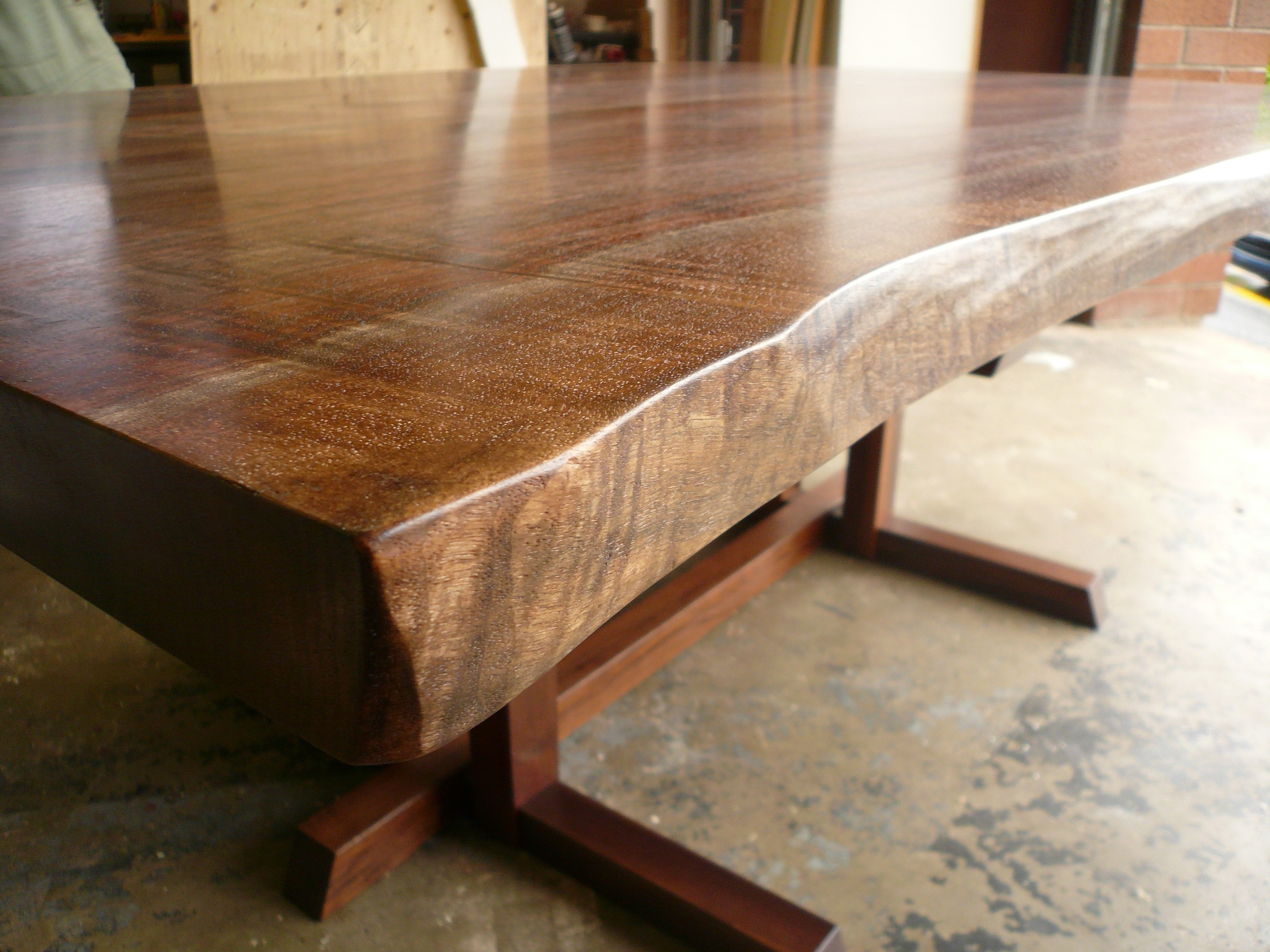 Luxury Live Edge Walnut Dining Table (View 11 of 20)
