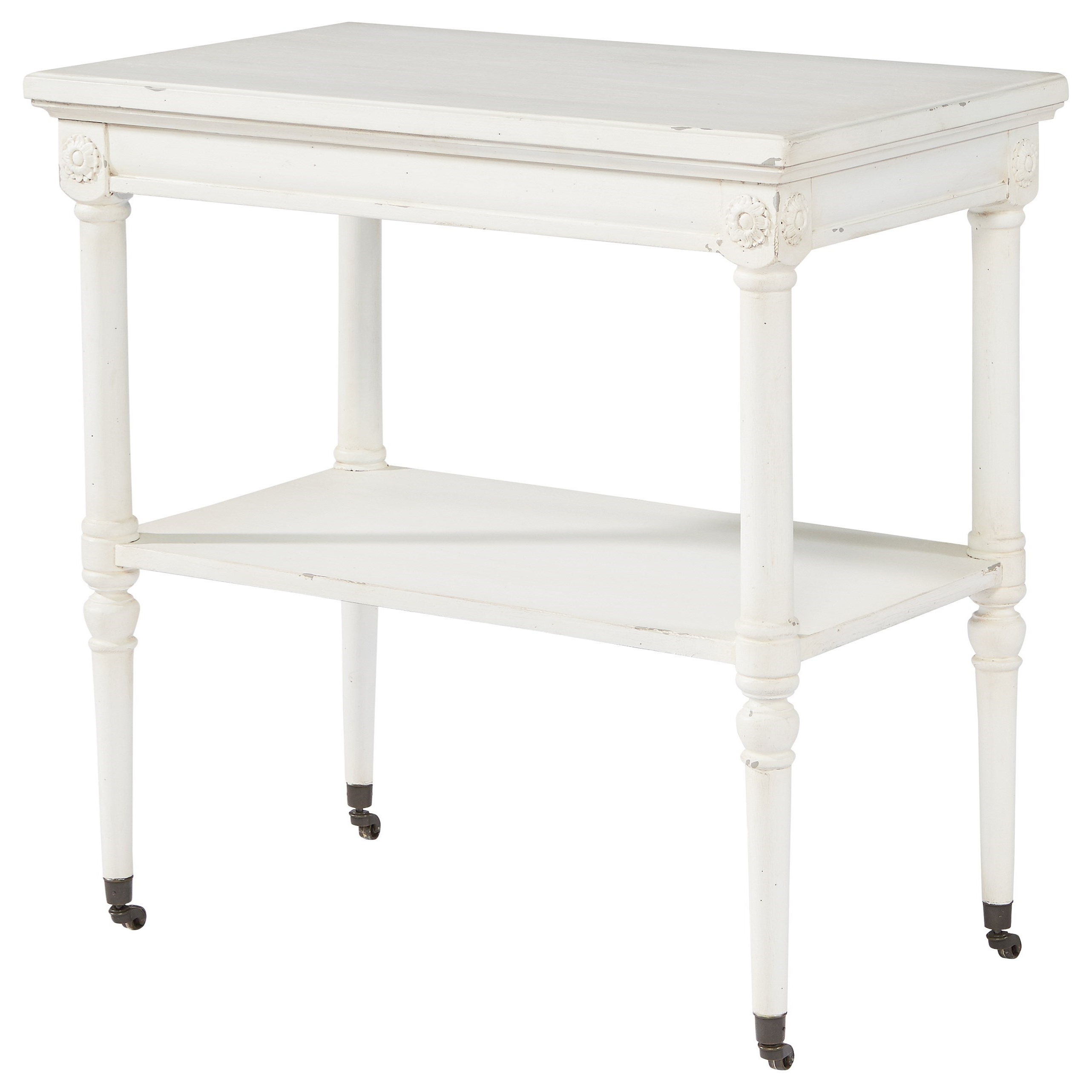Magnolia Homejoanna Gaines French Inspired Petite Rosette Table Regarding Favorite Magnolia Home Scallop Antique White Cocktail Tables (View 11 of 20)