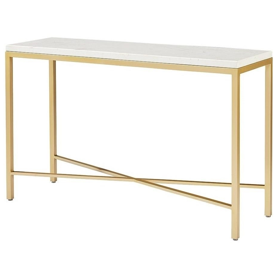 Magnolia Homejoanna Gaines Modern Luxe Console Table With Glass Inside Fashionable Magnolia Home Ellipse Cocktail Tables By Joanna Gaines (View 6 of 20)