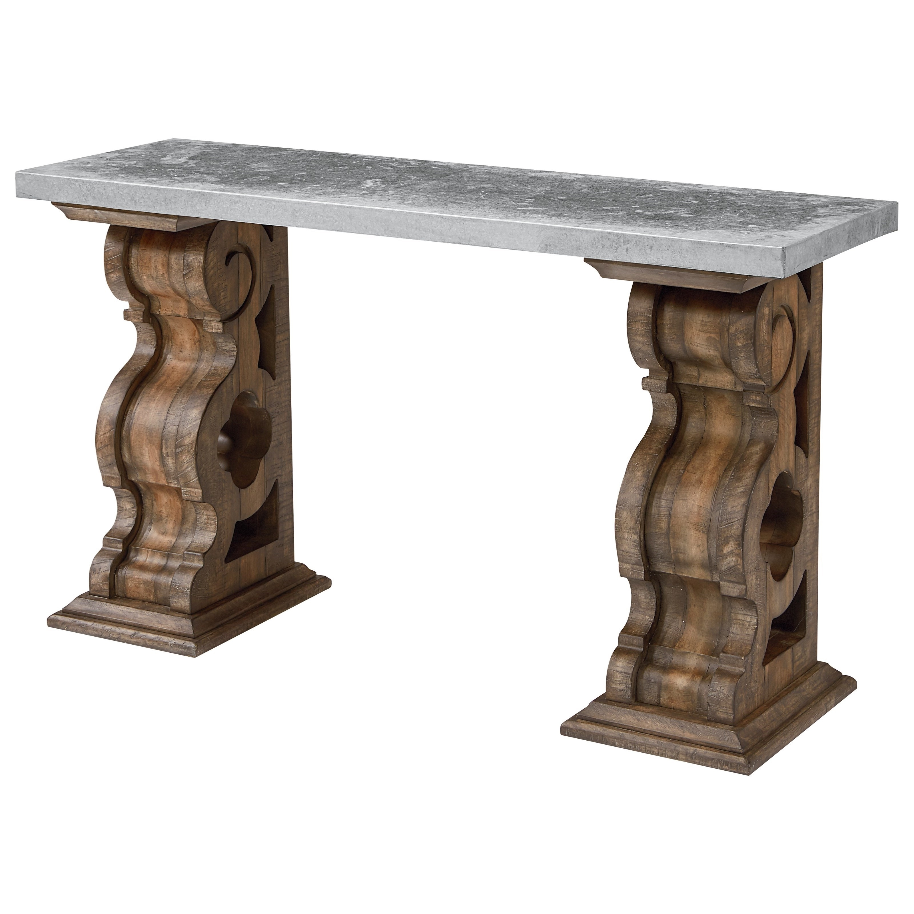 Magnolia Homejoanna Gaines Traditional Hall Table With Zinc Top Intended For 2017 Magnolia Home Ellipse Cocktail Tables By Joanna Gaines (View 11 of 20)