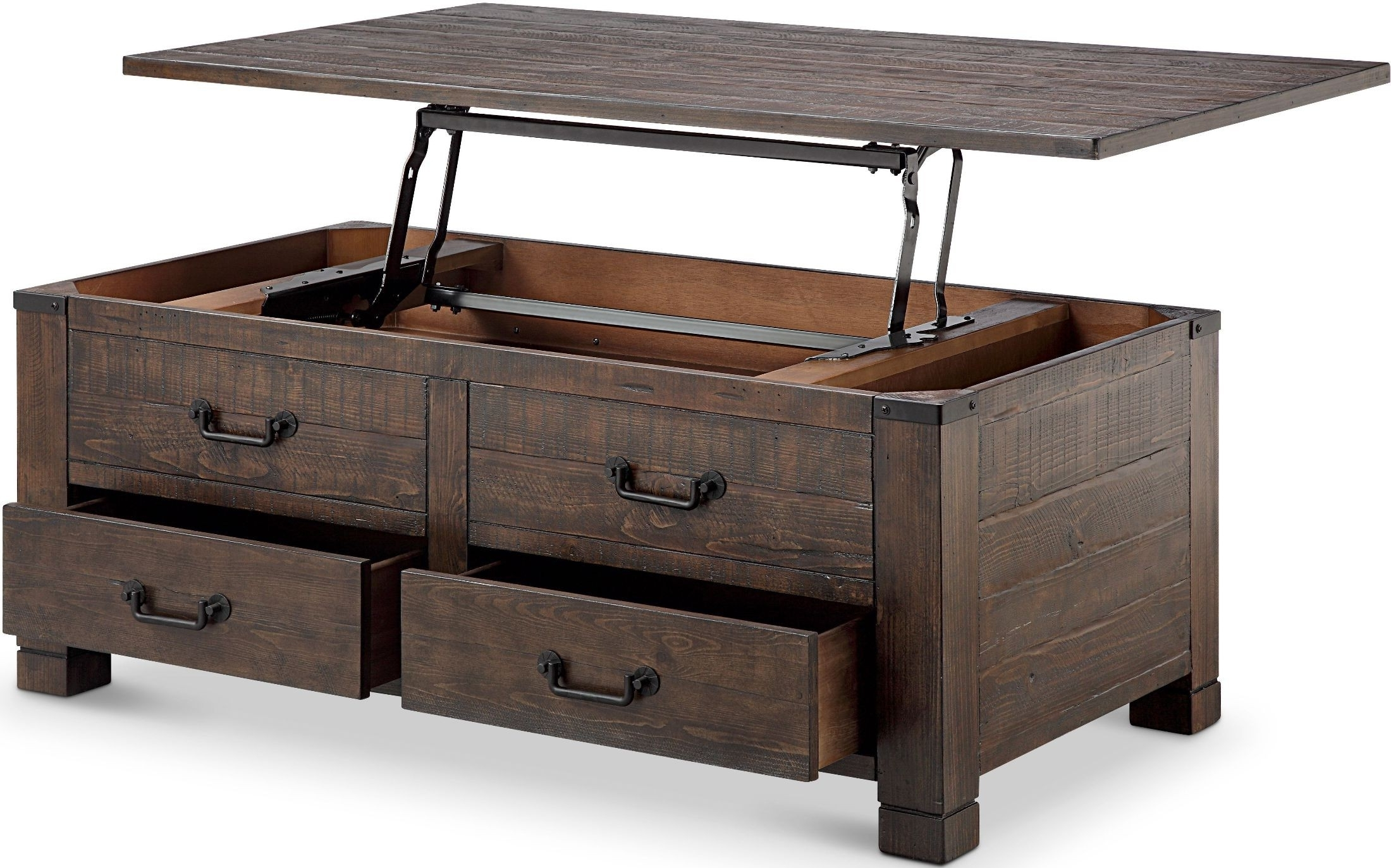 Magnussen Pine Hill Rustic Pine Lift Top Cocktail Table – Pine Hill Pertaining To Best And Newest Grant Lift Top Cocktail Tables With Casters (View 5 of 20)