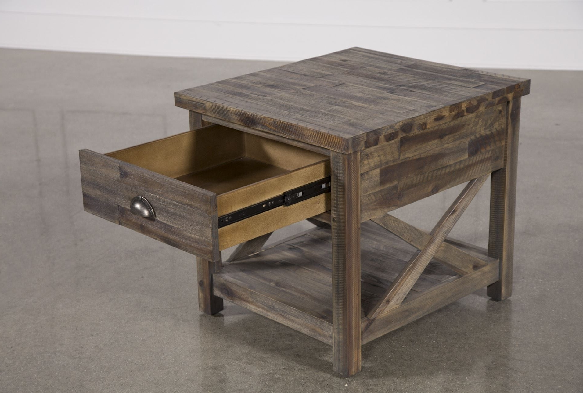 Mallard End Table, Grey (View 12 of 20)