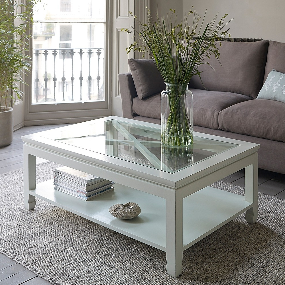 Mandara White Wooden Coffee Table In Favorite Round White Wash Brass Painted Coffee Tables (View 8 of 20)