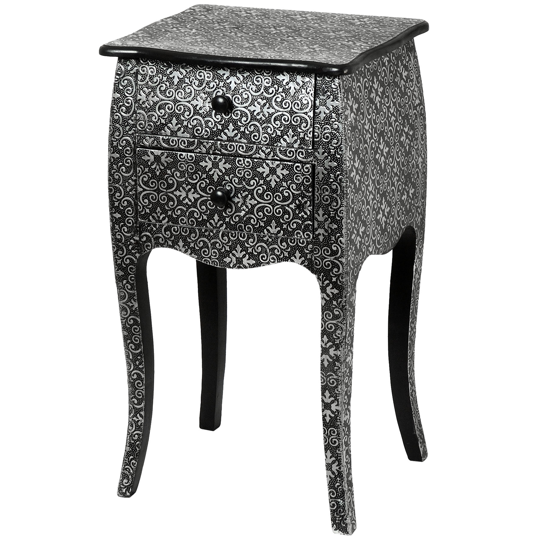 Marrakech Two Drawer Bedside Cabinet (View 6 of 20)