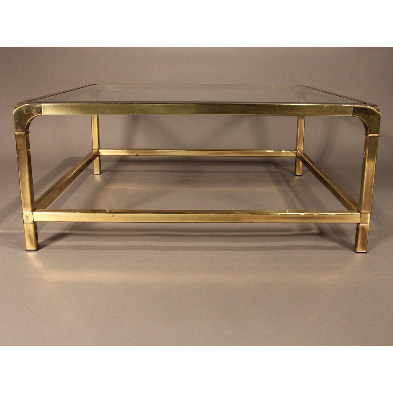 Mastercraft Brass And Glass Coffee Table At 1stdibs In Preferred Rectangular Brass Finish And Glass Coffee Tables (View 5 of 20)