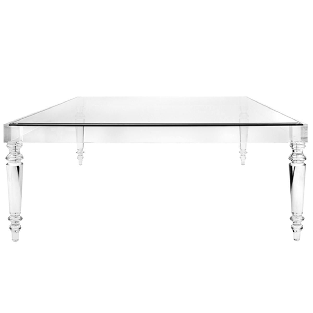 Melrose Modern Acrylic Coffee Table (View 4 of 20)