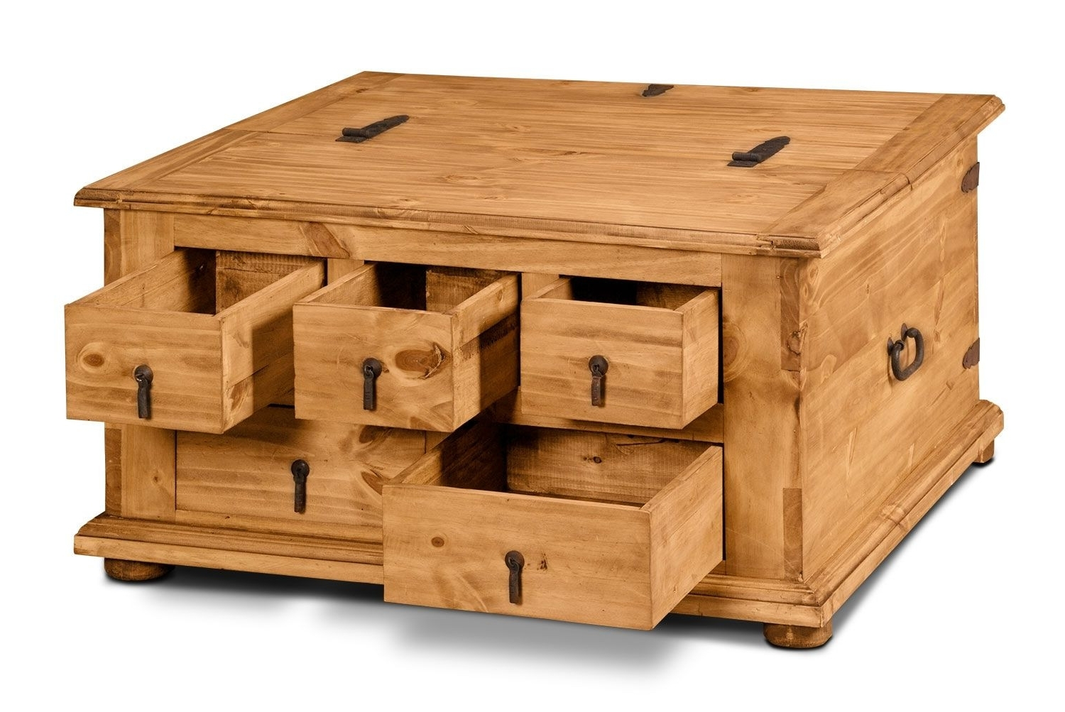 Metal Trunk Coffee Table Awesome Santa Fe Rusticos Solid Pine Trunk For 2018 Santa Fe Coffee Tables (View 5 of 20)