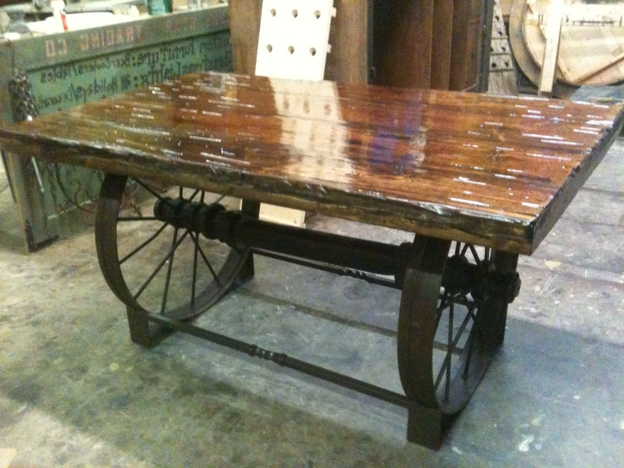 Metal Wagon Wheel Table – Google Search (View 9 of 20)