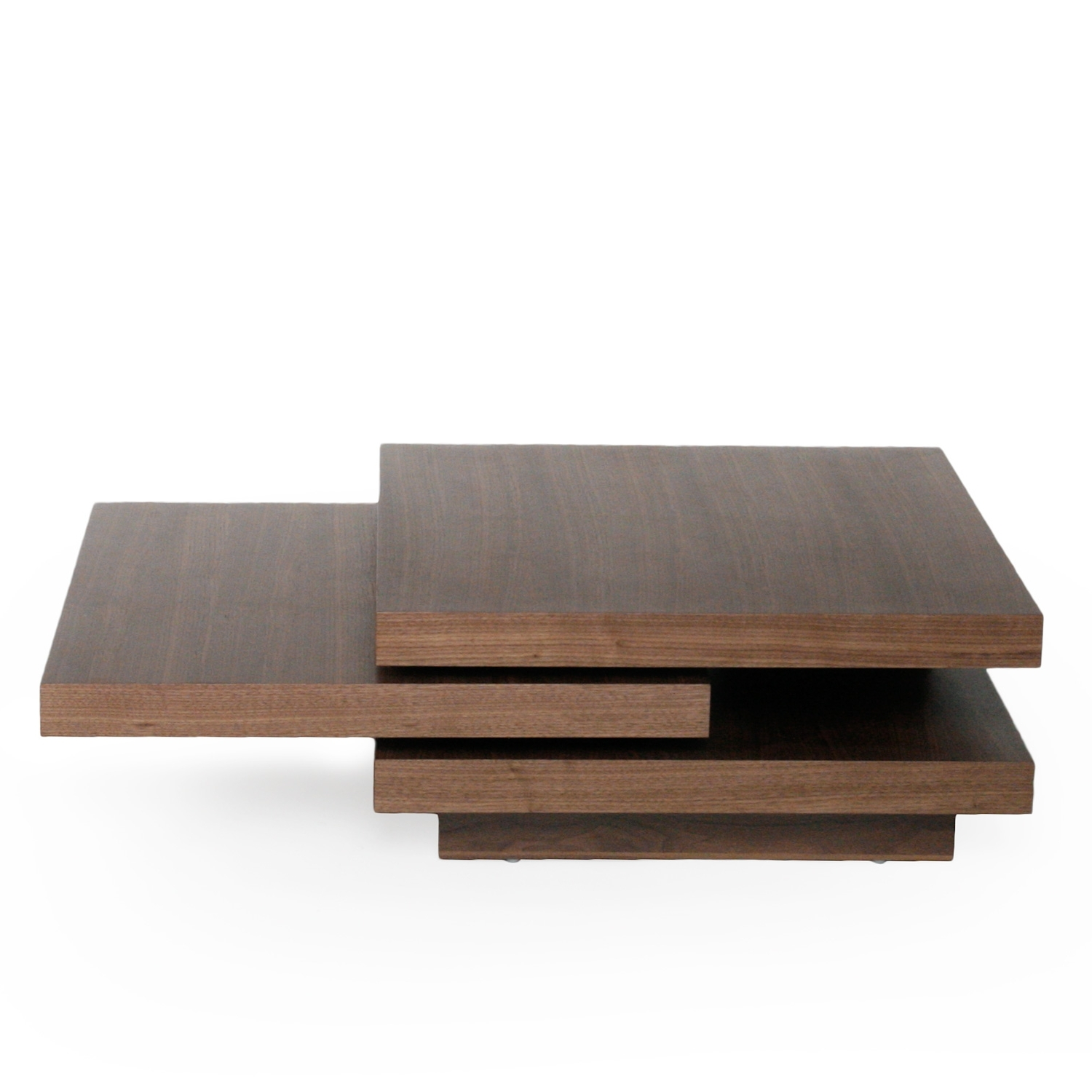 Modern & Functional Coffee Table In Walnut Finish With 2018 Spin Rotating Coffee Tables (View 7 of 20)