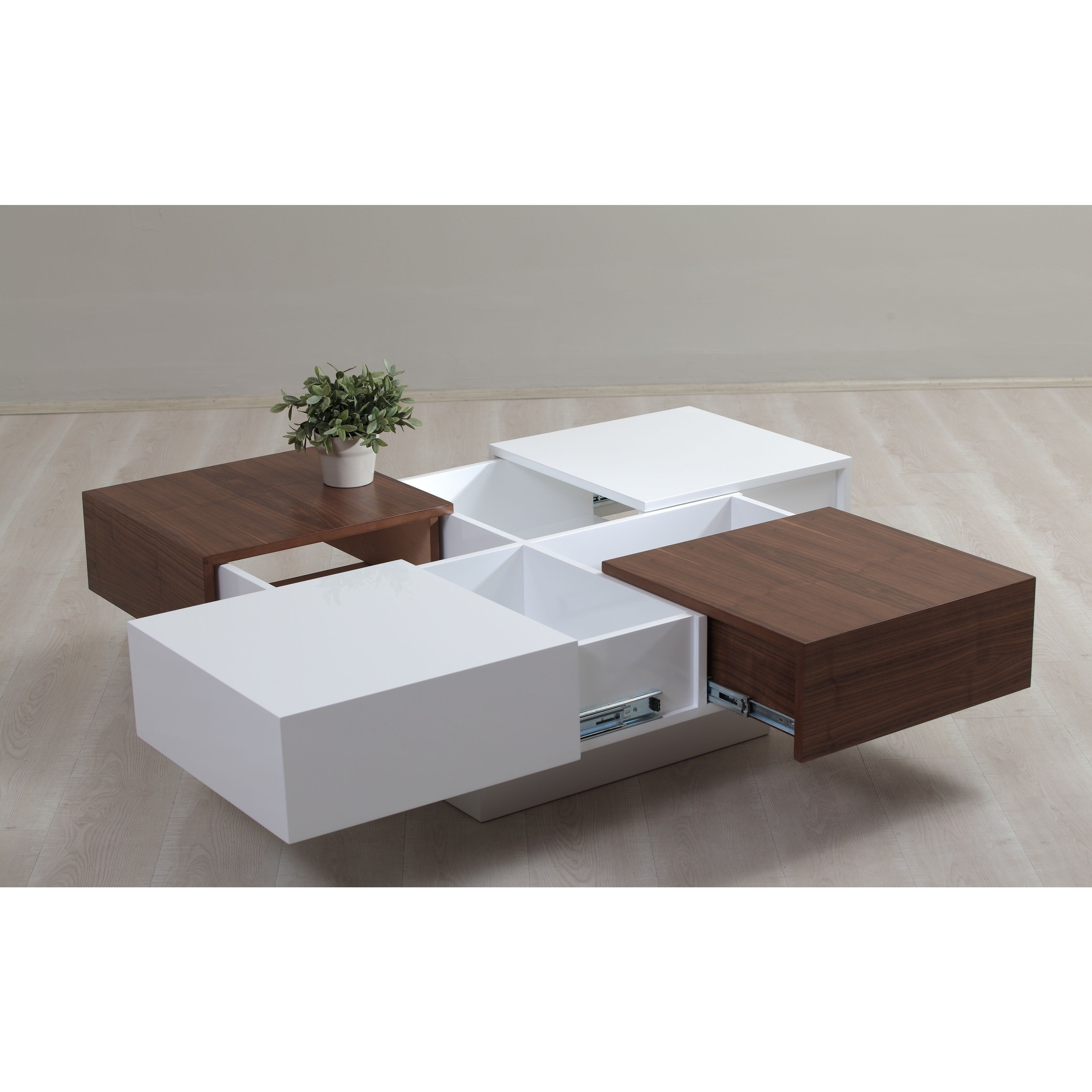 Modern Storage Coffee Table New A Modern Storage Solution This White Throughout Famous Walnut 4 Drawer Coffee Tables (View 9 of 20)