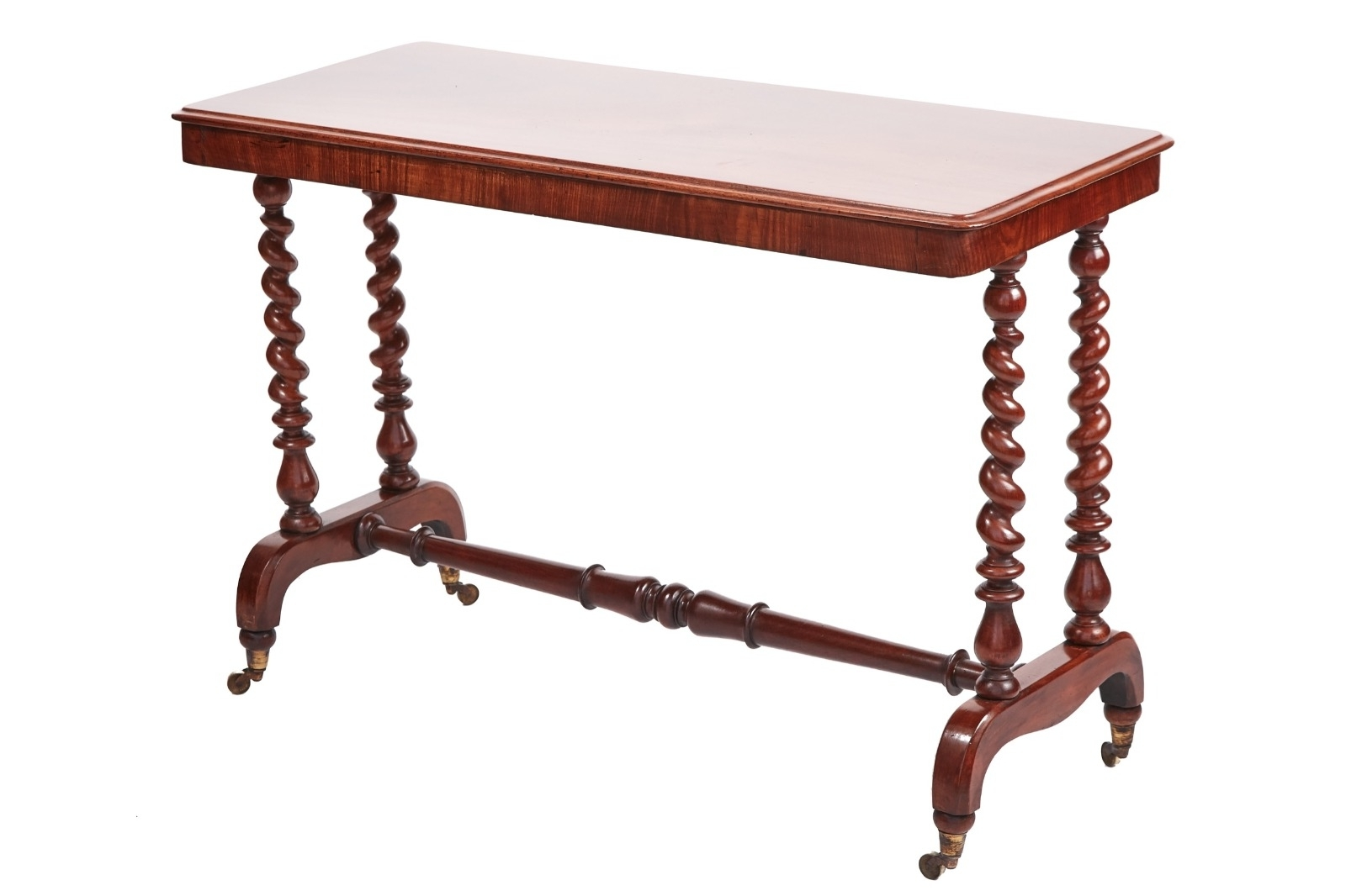 Most Current Barley Twist Coffee Tables Throughout Victorian Mahogany Barley Twist End Support Centre Table – T (View 10 of 20)