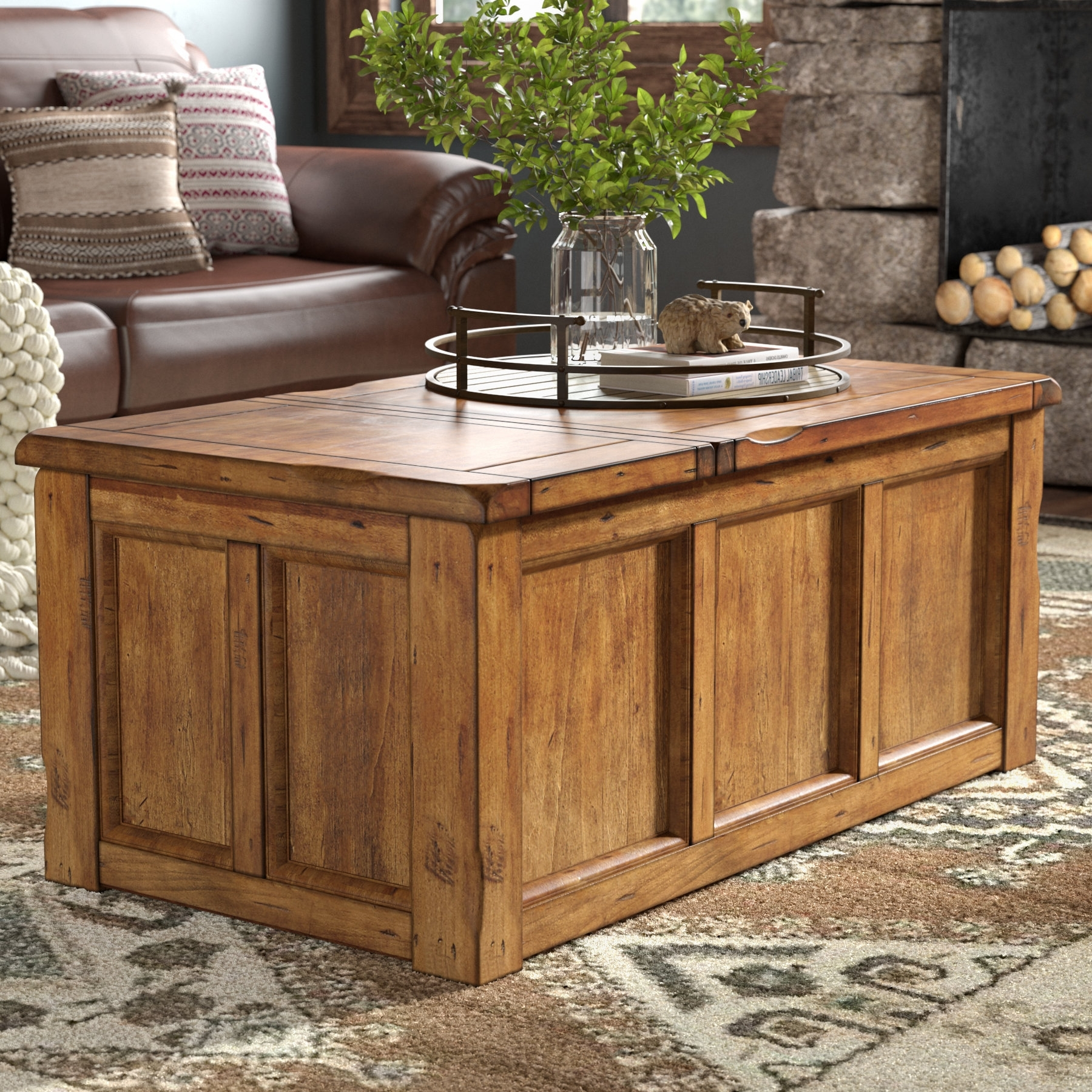 Most Current Chiseled Edge Coffee Tables In Laurel Foundry Modern Farmhouse Baggarly Coffee Table With Lift Top (View 12 of 20)