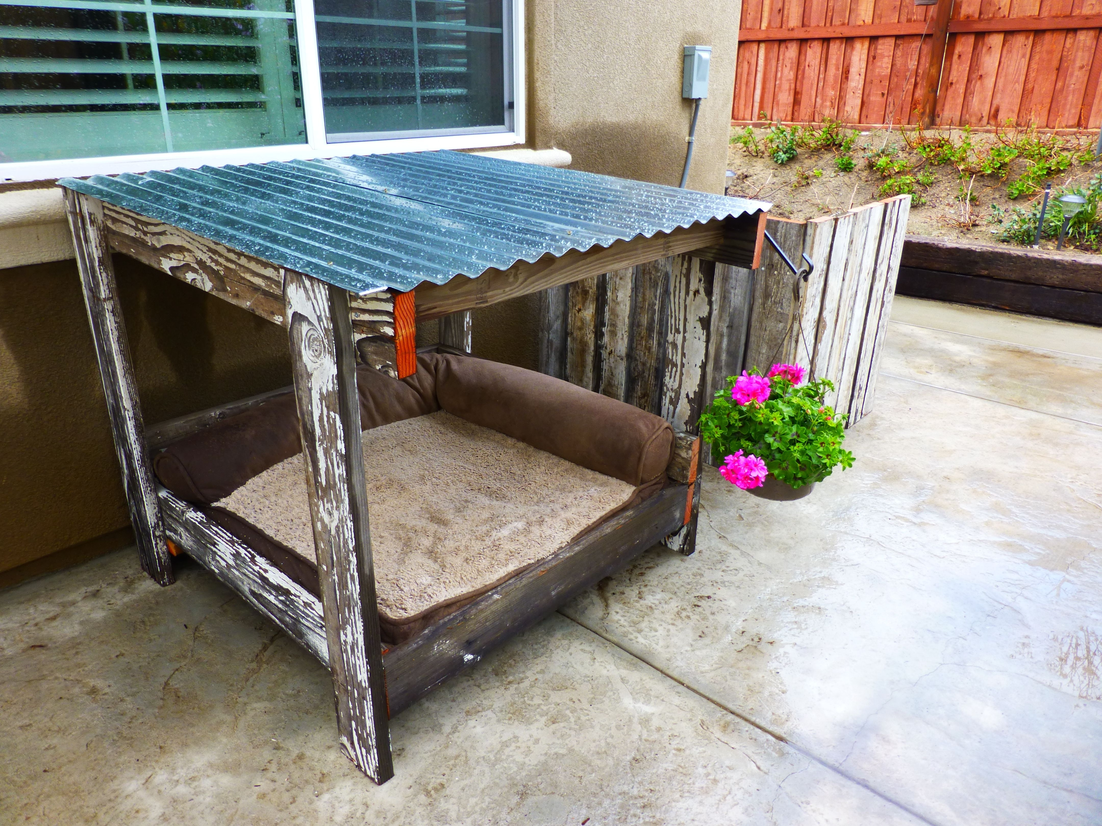 Most Current Corrugated White Wash Barbox Coffee Tables Pertaining To Dog House, Old Fence Wood And A Pallet = Dog House,a/c Cover,and (View 12 of 20)