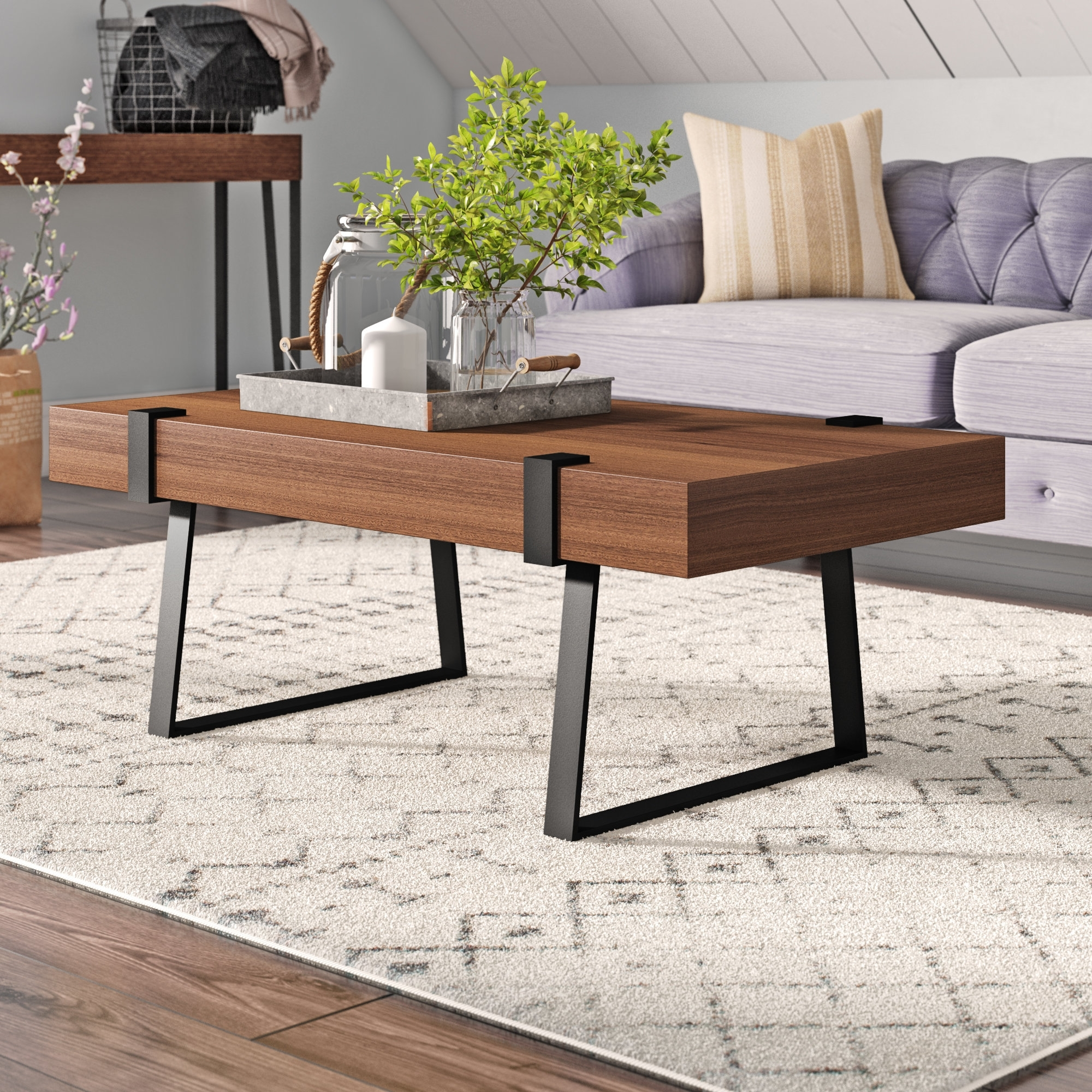 Most Current Expressionist Coffee Tables With Regard To Laurel Foundry Modern Farmhouse Wisteria Indoor Coffee Table (View 12 of 20)