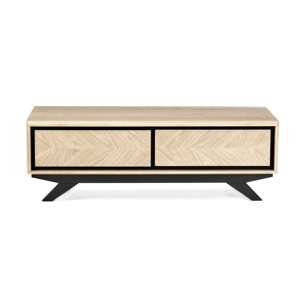 Most Current Gunmetal Coffee Tables Within Bentley Designs Brunel Chalk Oak And Gunmetal Coffee Table With (View 11 of 20)