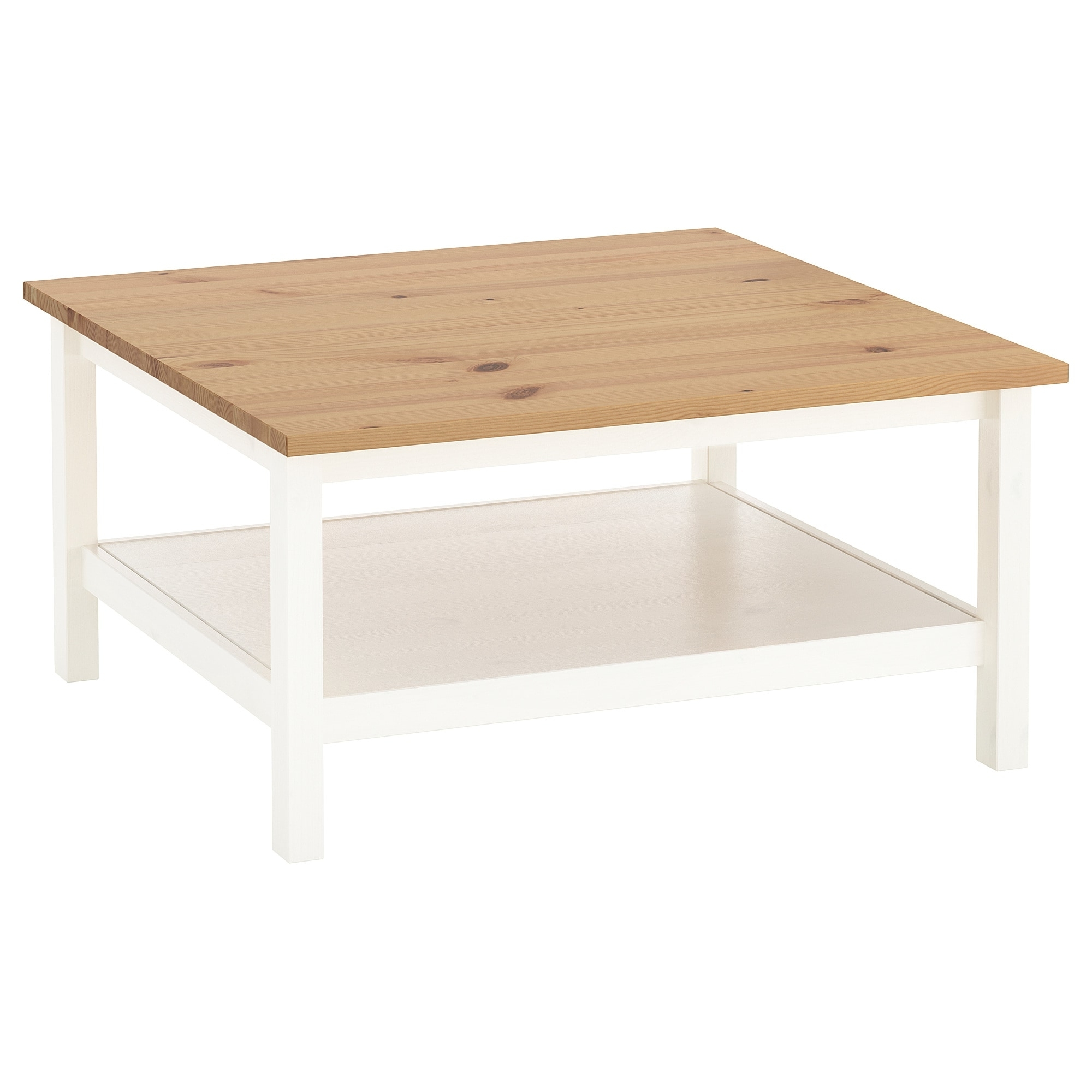 Most Current Light Natural Coffee Tables Pertaining To Hemnes Coffee Table White Stain/light Brown 90 X 90 Cm – Ikea (View 13 of 20)