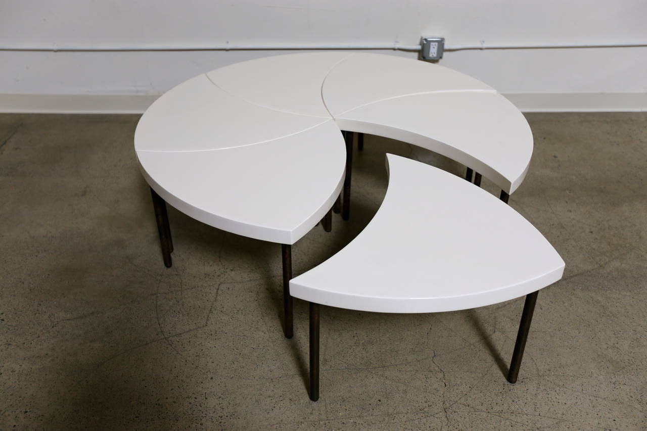 "Most Current Modular Coffee Tables Within Modernist Modular ""pinwheel"" Coffee Table For Sale At 1Stdibs (View 11 of 20)"