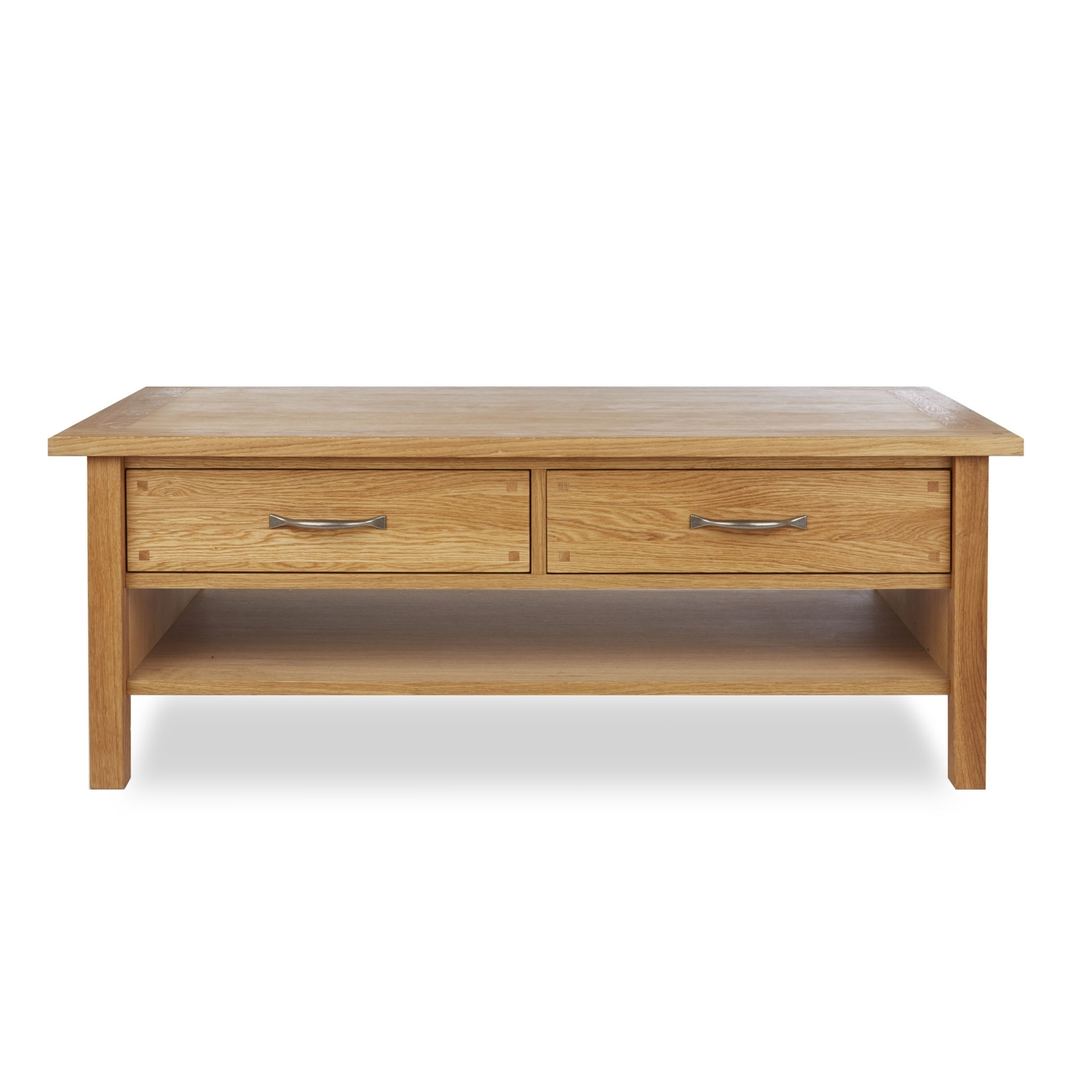 Most Current Natural 2 Drawer Shutter Coffee Tables In Made To Order Furniture – Milton Oak 2 Drawer Coffee Table (View 9 of 20)