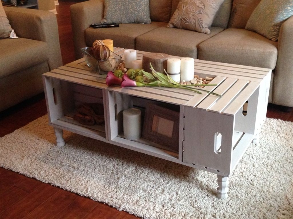 Most Current Rectangular Barbox Coffee Tables With Wooden Crate Coffee Table Wine Rack – Roystonmonteiro (View 8 of 20)