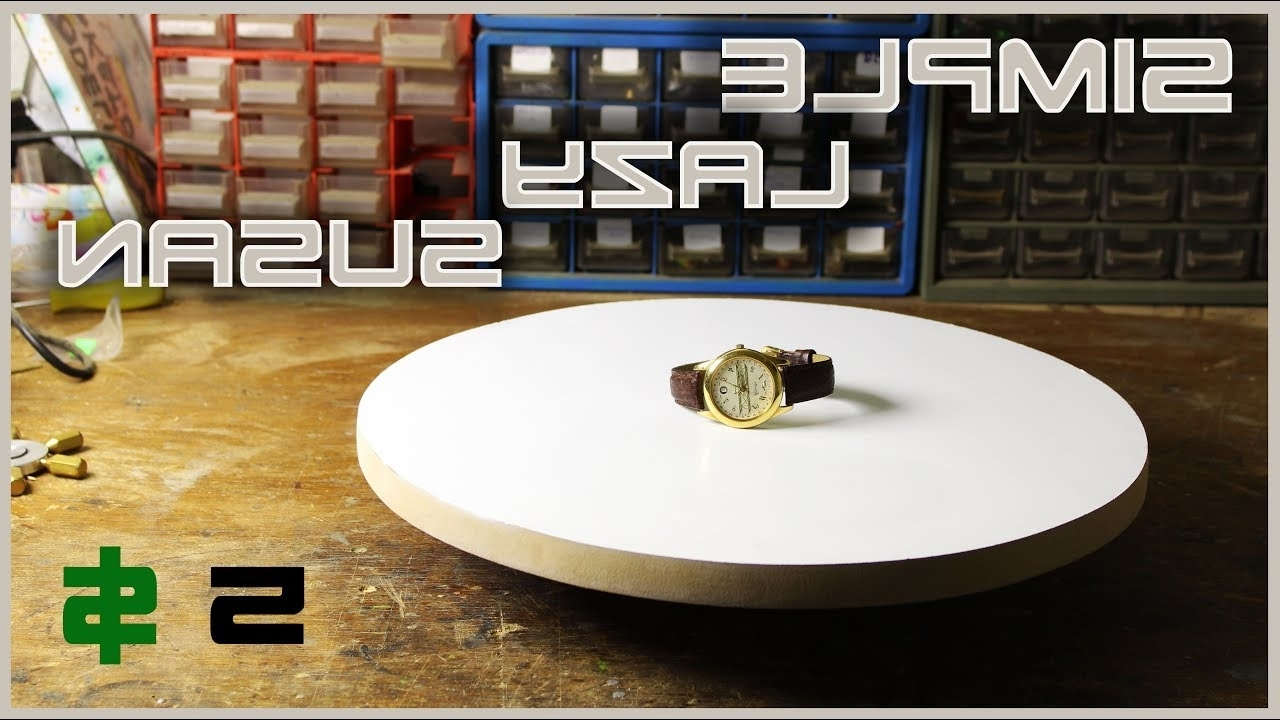 "Most Current Spin Rotating Coffee Tables Throughout Make A Simple Rotating Table ""lazy Susan"" – Youtube (View 8 of 20)"