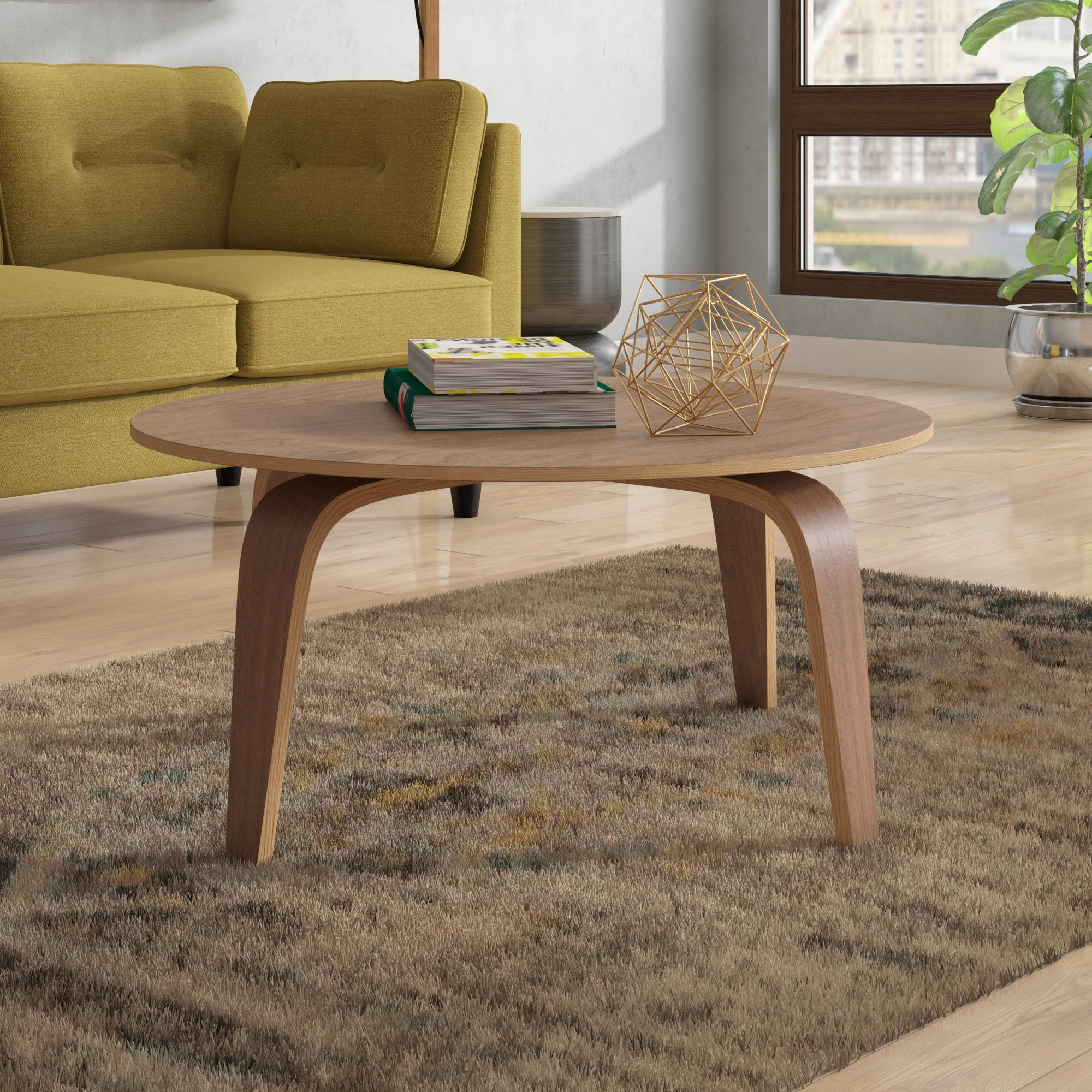 Most Current Stack Hi Gloss Wood Coffee Tables With Regard To Langley Street Finnur Coffee Table & Reviews (View 11 of 20)